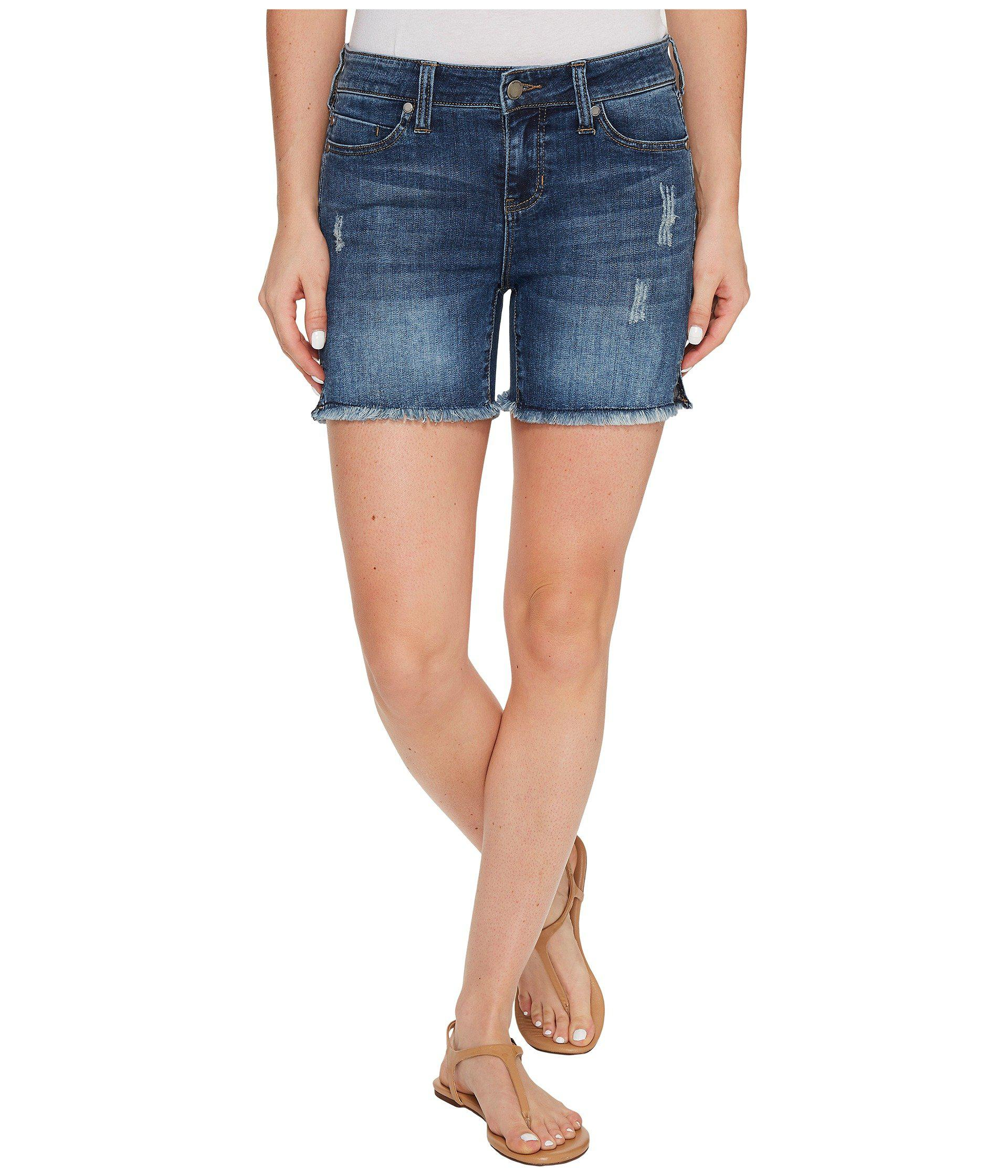 embroidered liverpool comfort cuff bridgeport in comforter capris clothing wide super denim company waist vintage josie stretch lyst jeans