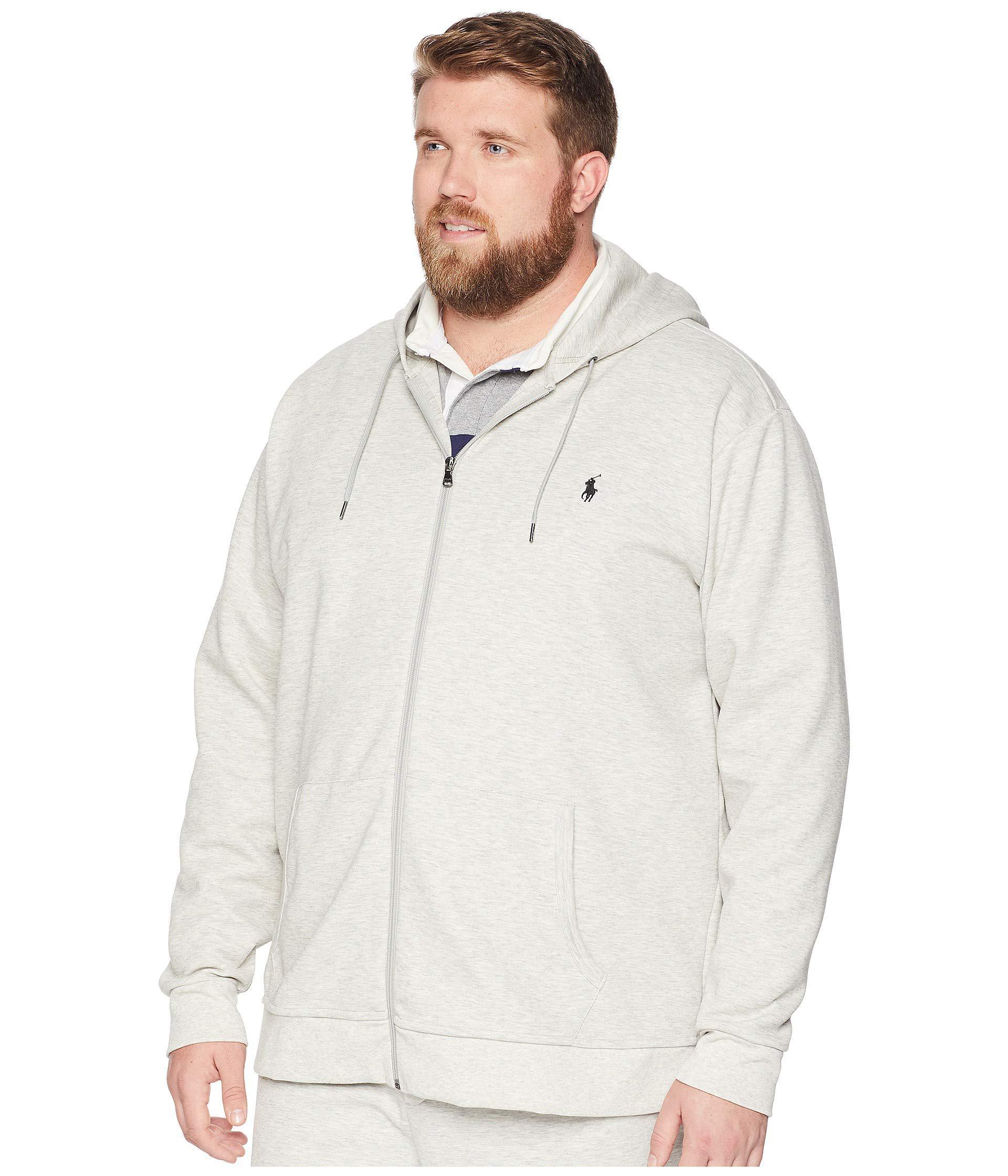 Lyst - Polo Ralph Lauren Big Tall Double Knit Full Zip (light Sport  Heather) Men s Clothing in Gray for Men 71d5a53e3