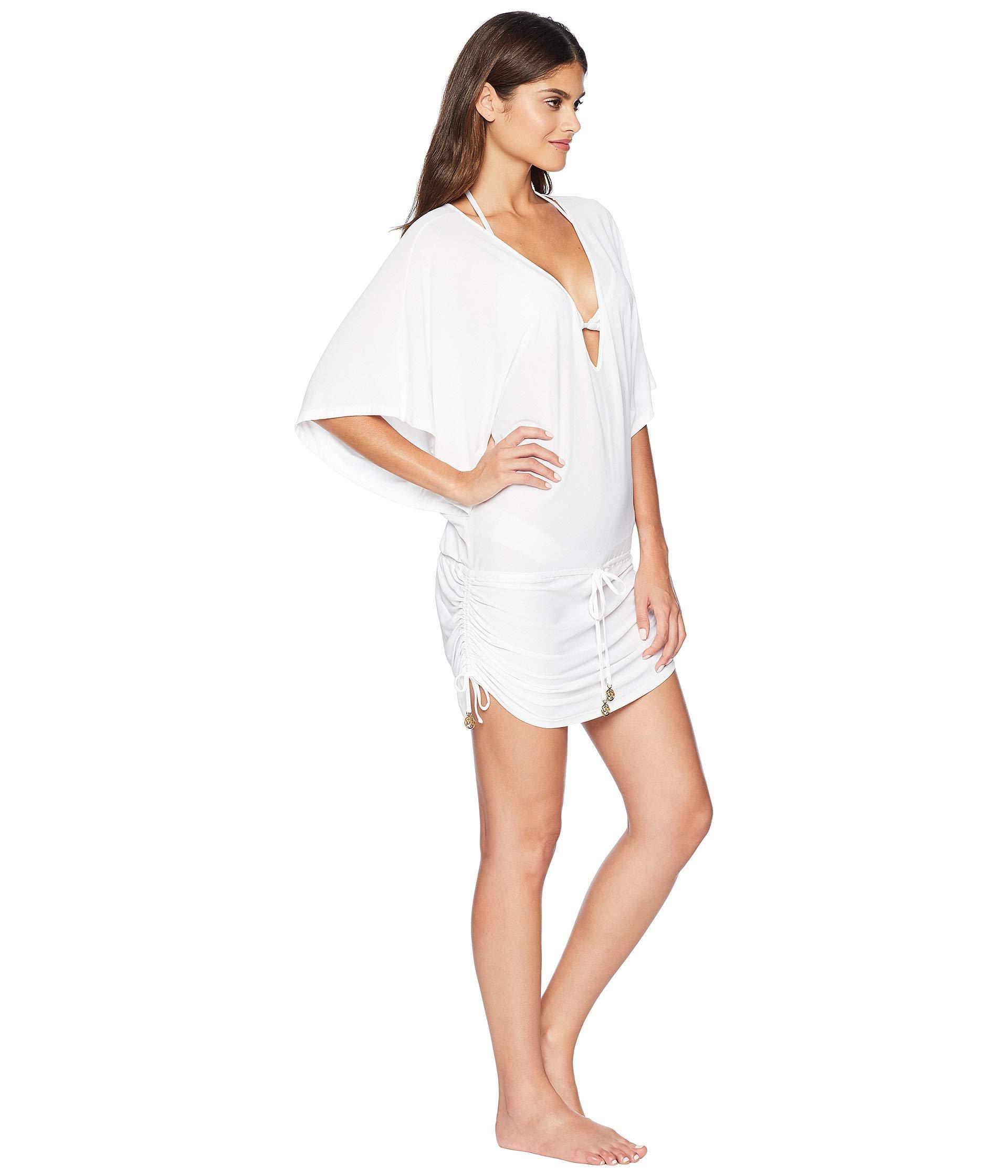 70549ae4465 Luli Fama - White Cosita Buena Cabana V-neck Dress Cover-up (black. View  fullscreen