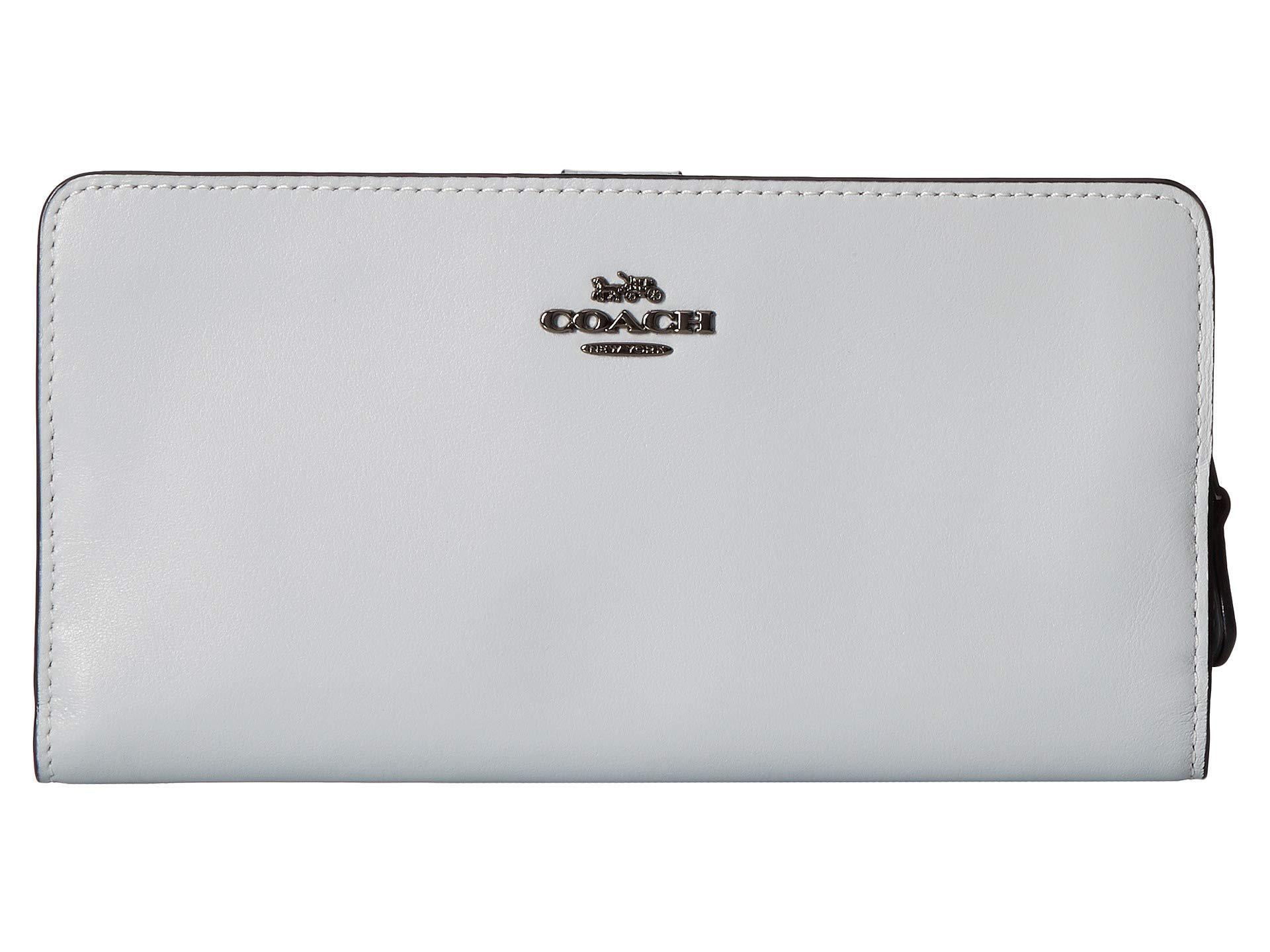 b78bf51860b5 Lyst - COACH Smooth Leather Skinny Wallet (li 1941 Saddle) Wallet ...
