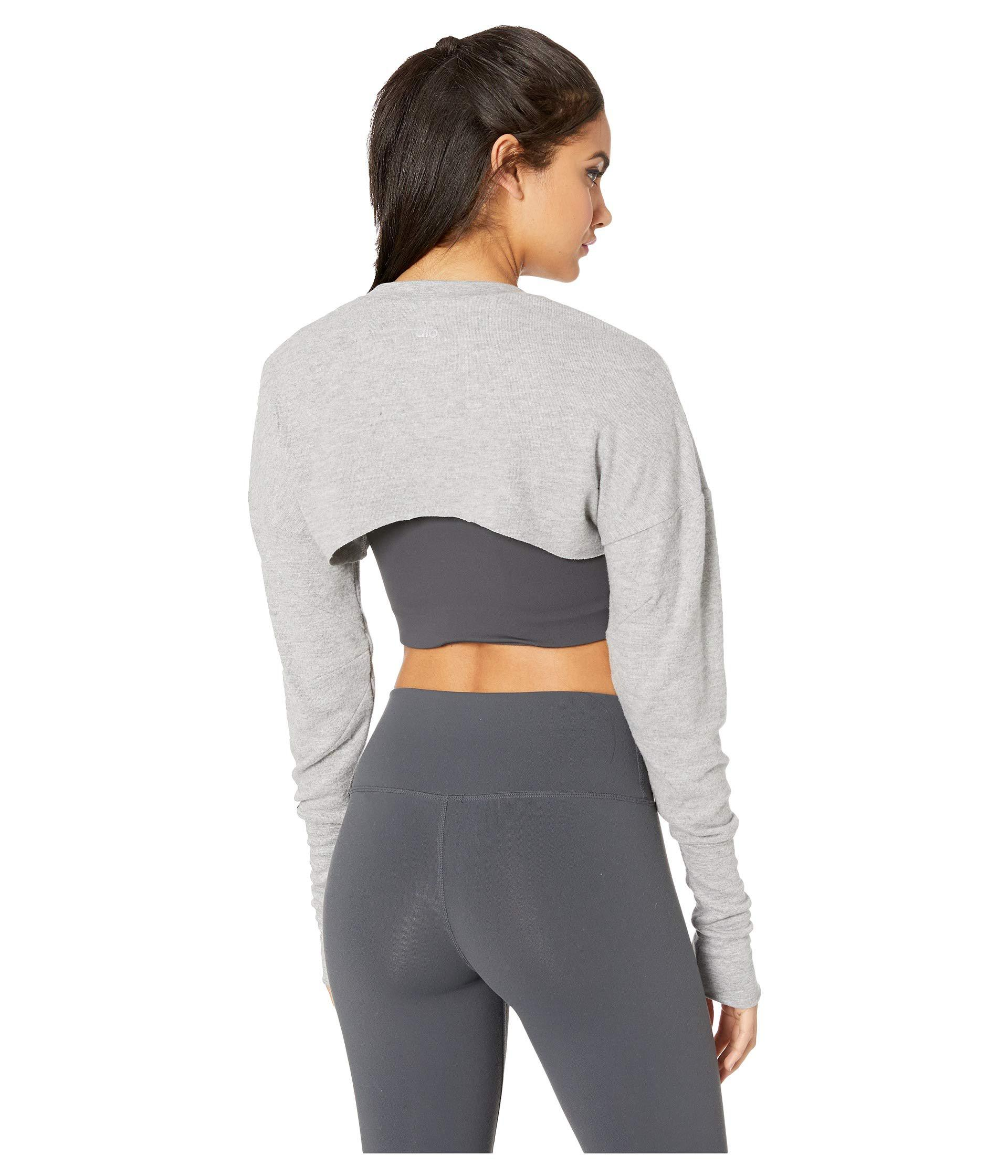 6d9fa835af20f6 Alo Yoga - Gray Extreme Long Sleeve Top (pristine) Women s Clothing - Lyst.  View fullscreen