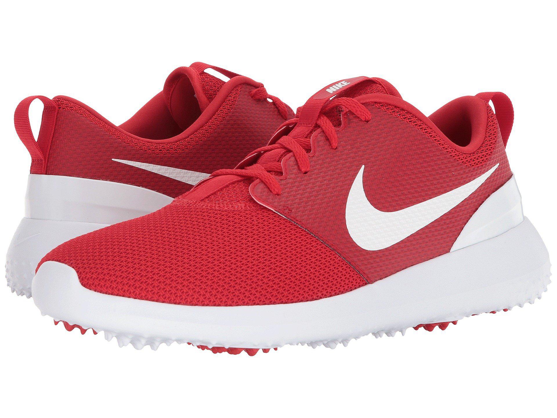 155df51abdb90 Lyst - Nike Roshe G (black white) Men s Golf Shoes in Red for Men