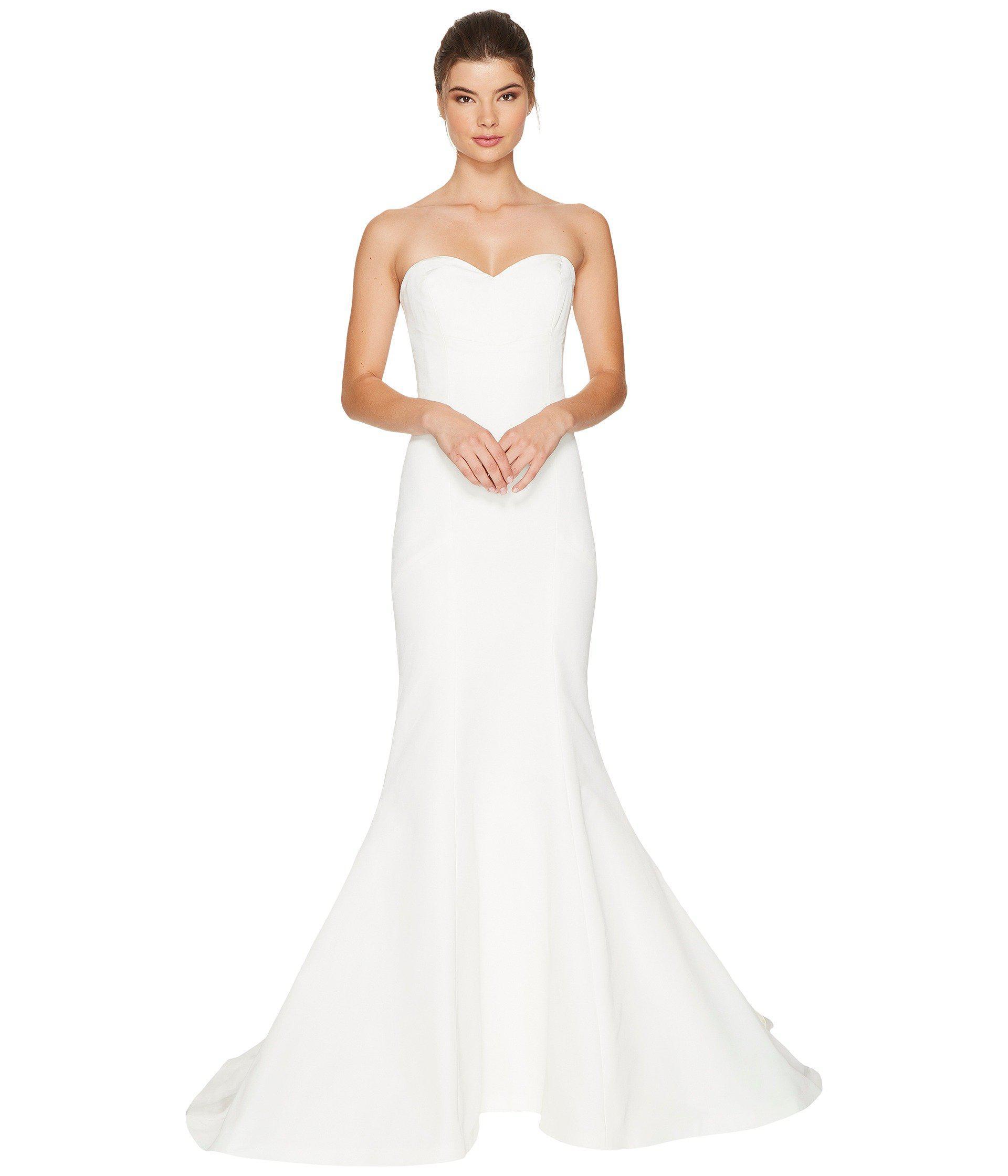 Lyst - Nicole Miller Dakota Silk Faille Strapless Gown (ivory ...