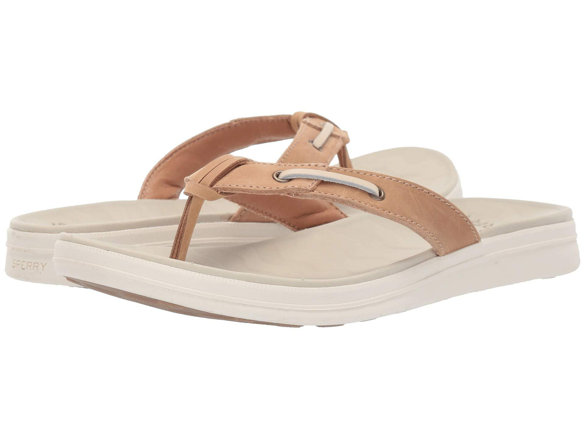 c98e32c762b Sperry Top-Sider. Adriatic Thong Skip Lace Leather (platinum) Women s  Sandals