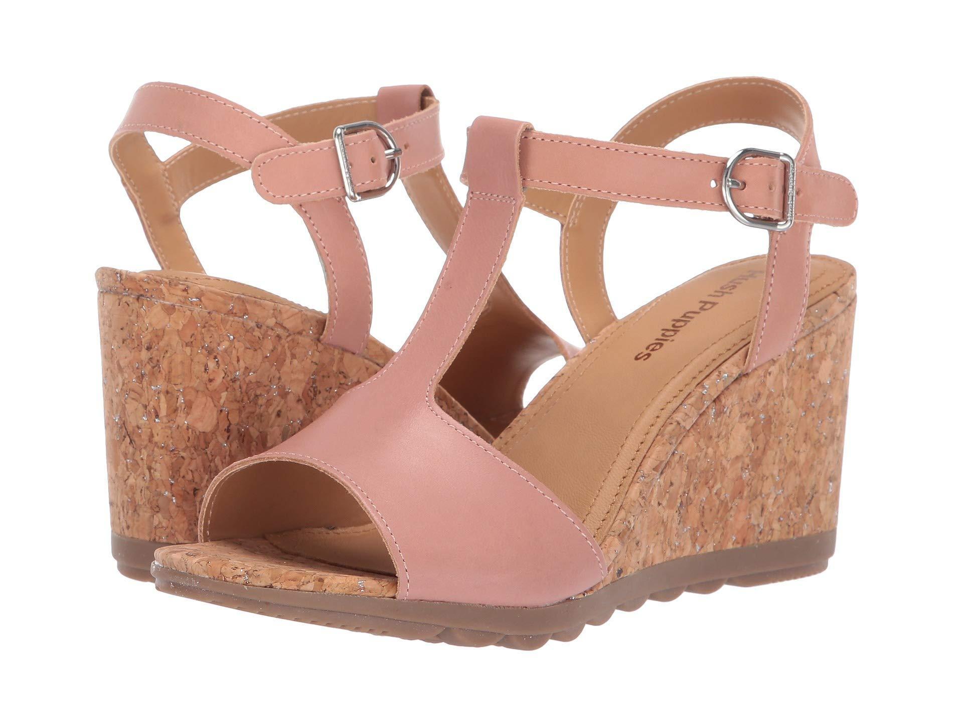 240c344d64445 Hush Puppies Pekingese T-strap (pale Peach Leather) Women's Sandals ...