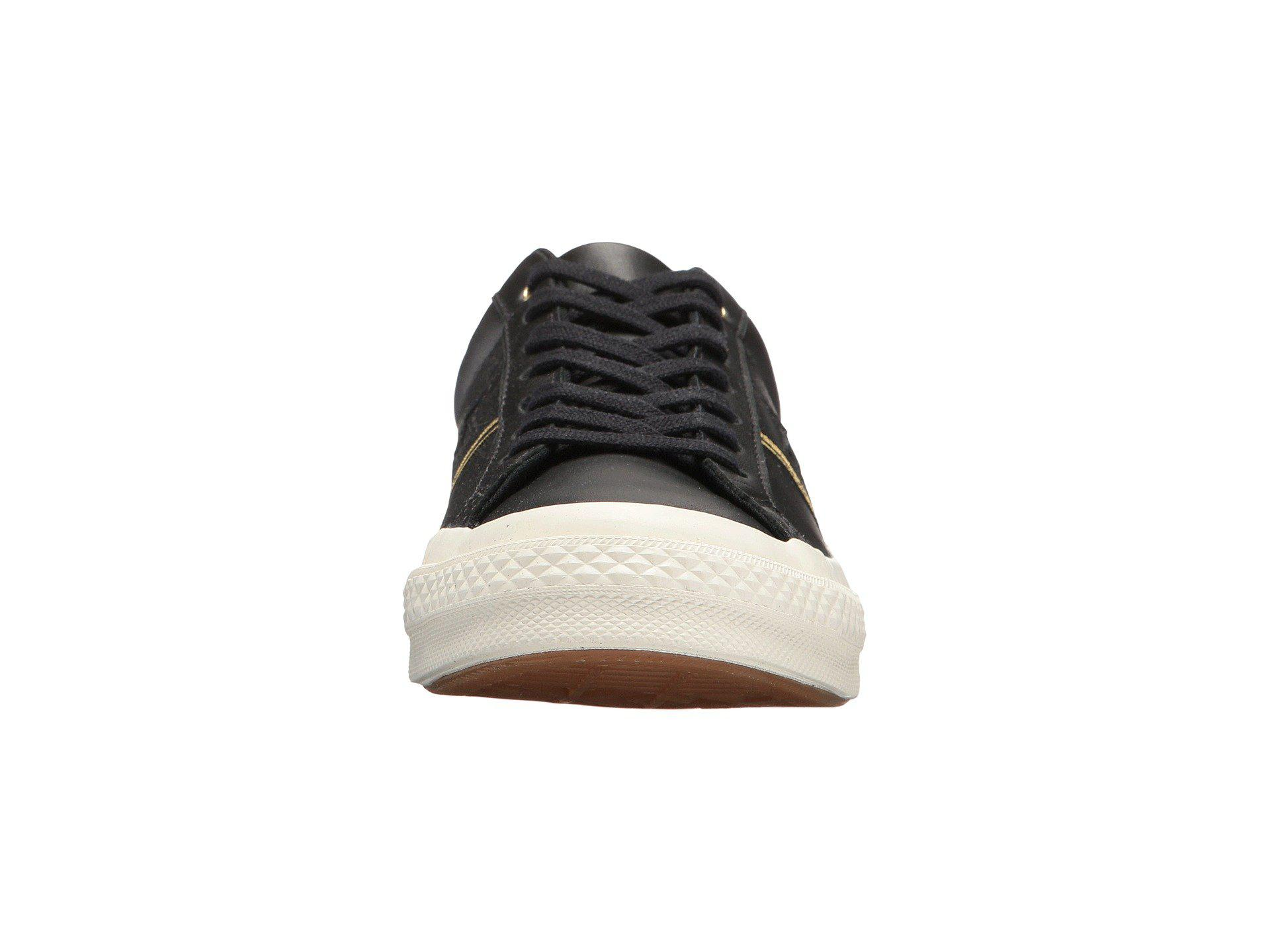 4c3596b15229 Lyst - Converse One Star(r) Piping Pack Ox (black gold egret ...
