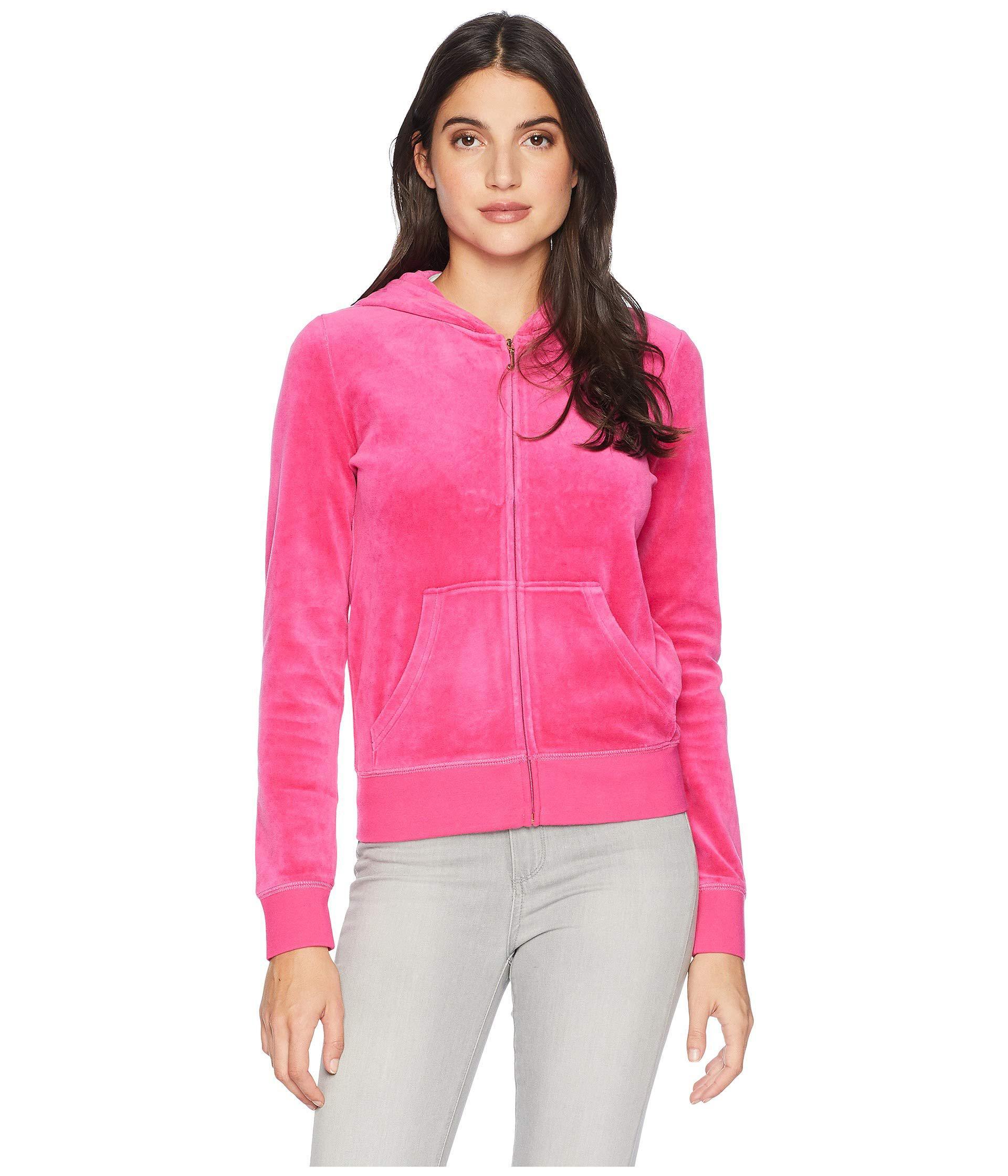 ff8391d3 Juicy Couture Track Velour Collegiate Juicy Robertson Jacket in Pink ...