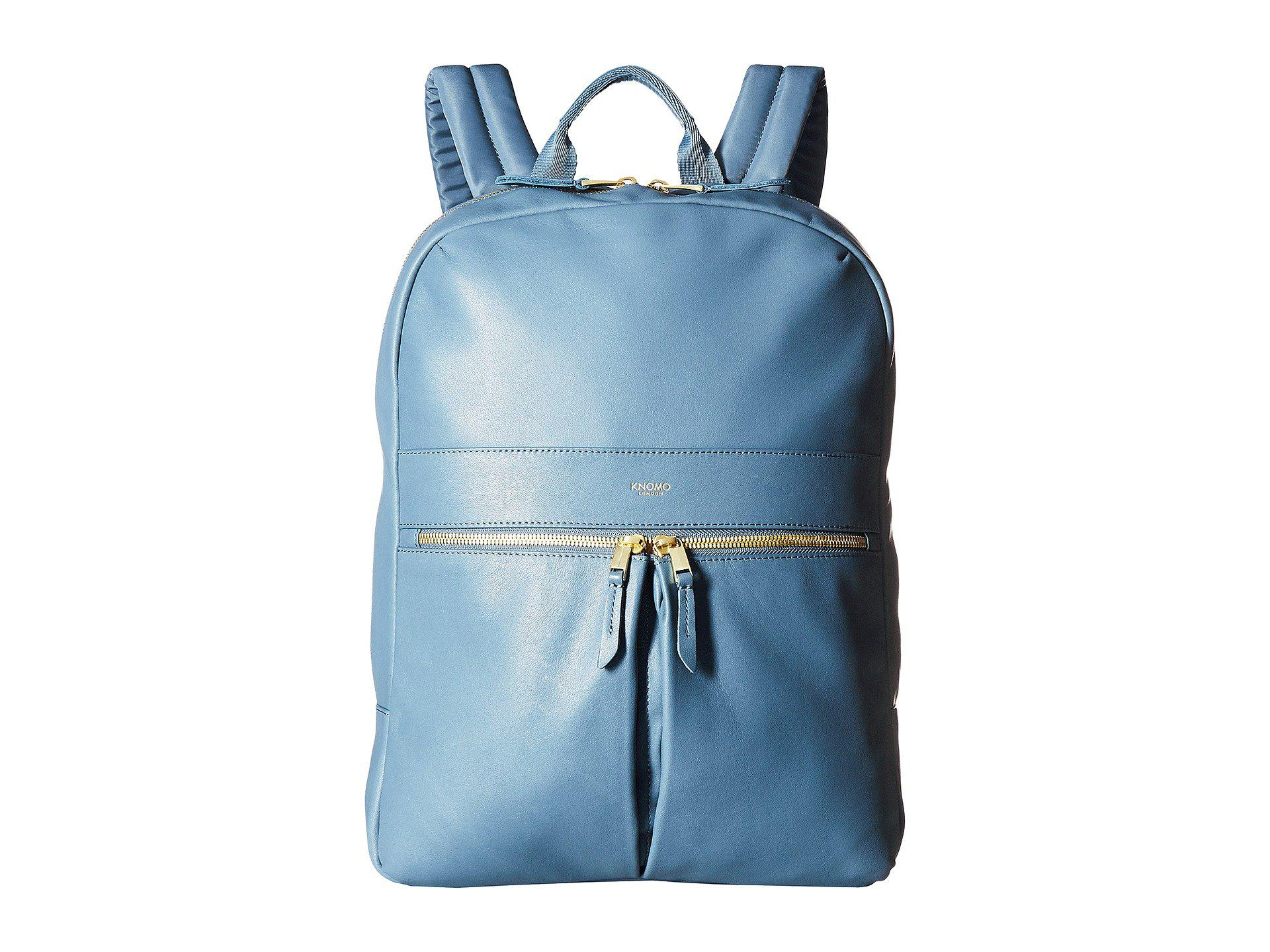982528dc7e9a Knomo Mayfair Luxe Beaux Leather Backpack (stonewash Blue) Backpack ...