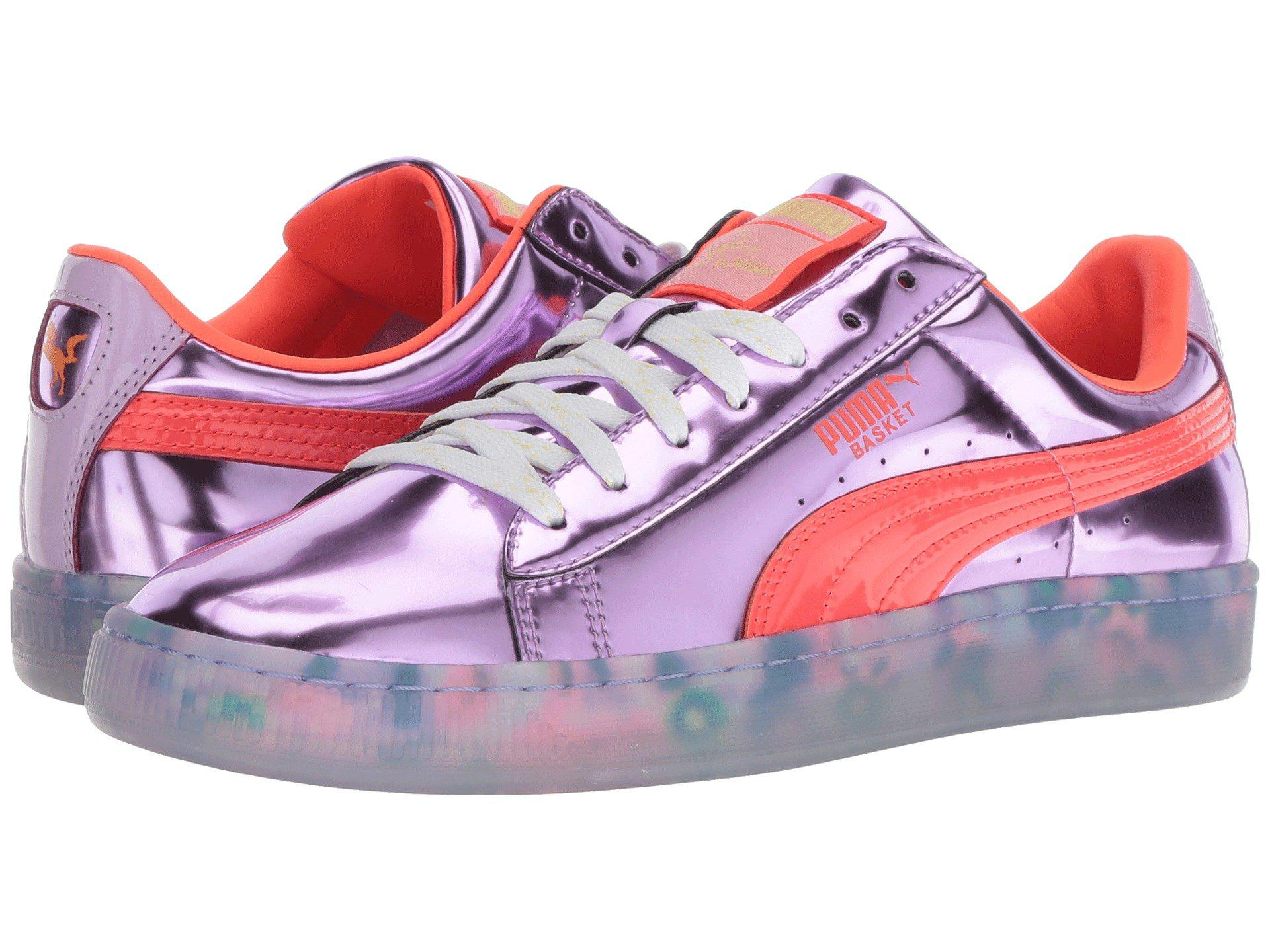 50d1187b5111 PUMA. X Sophia Webster Basket Candy Princess Sneaker (metallic Pink fiery  Coral) Women s Lace Up ..