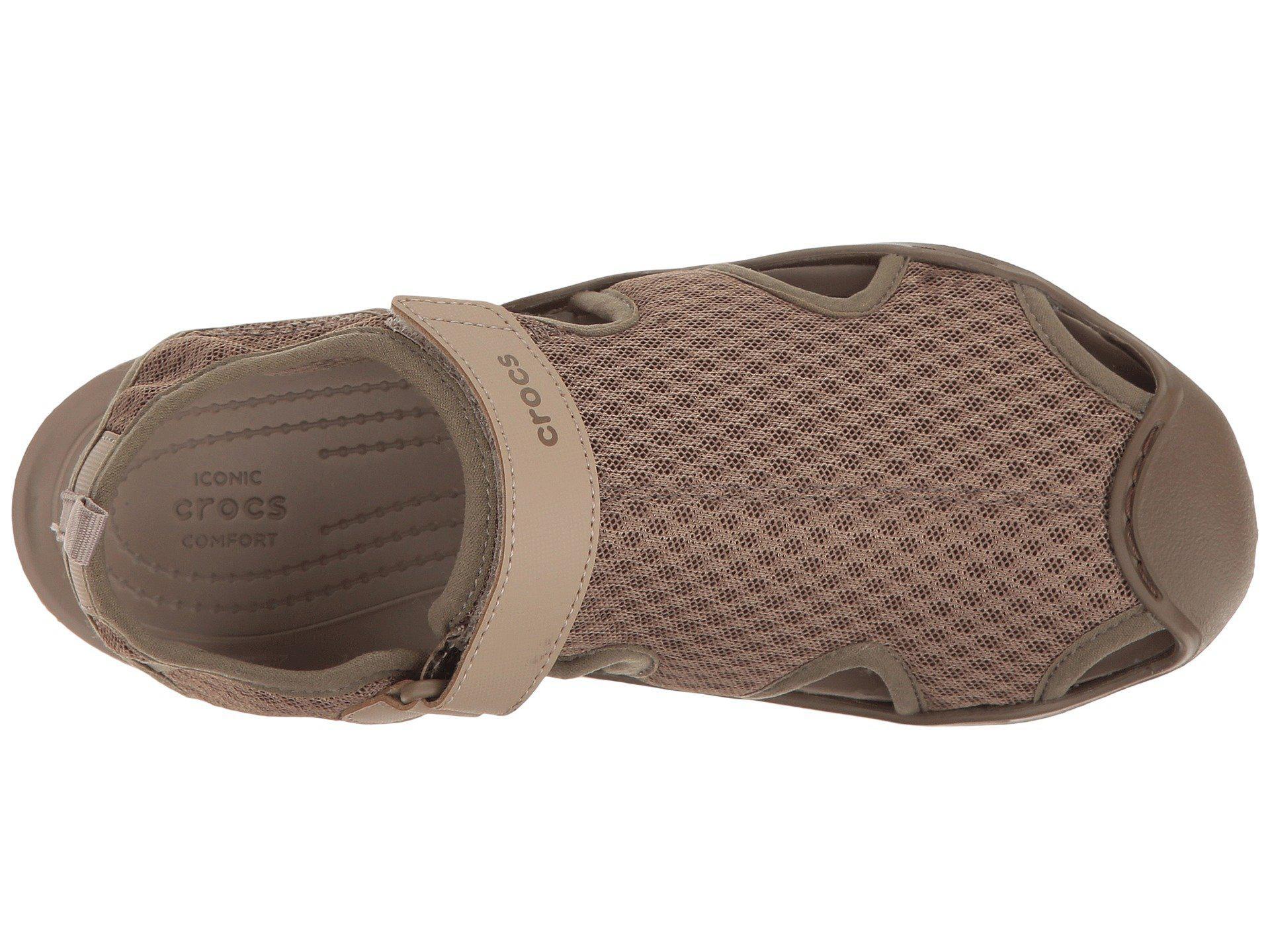 7dda35fa2e Crocs™ - Brown Swiftwater Mesh Sandal (walnut) Women s Sandals - Lyst. View  fullscreen