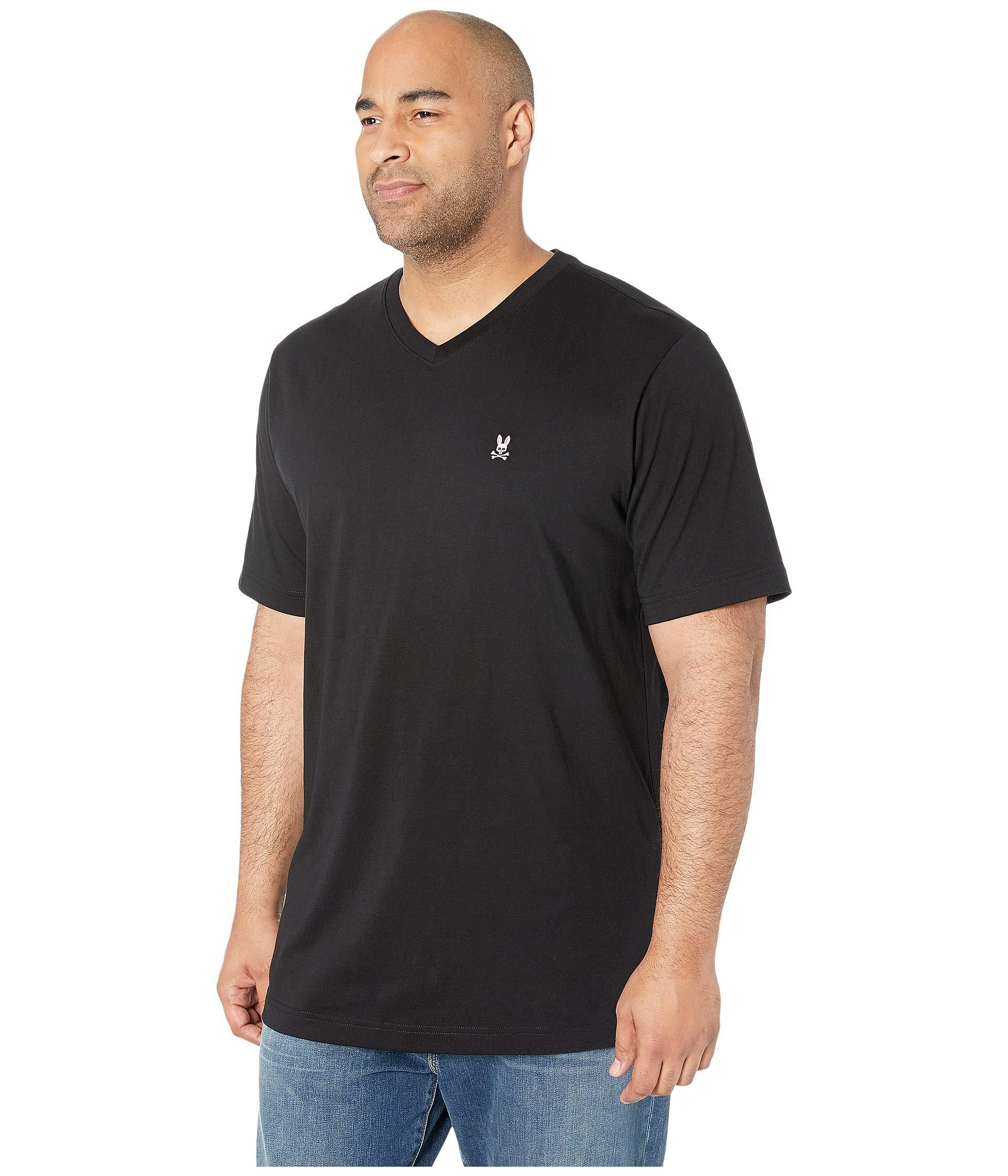 5ed1163861d Lyst - Psycho Bunny Big Tall Classic V-neck Tee (cornflower) Men s Clothing  in Black for Men