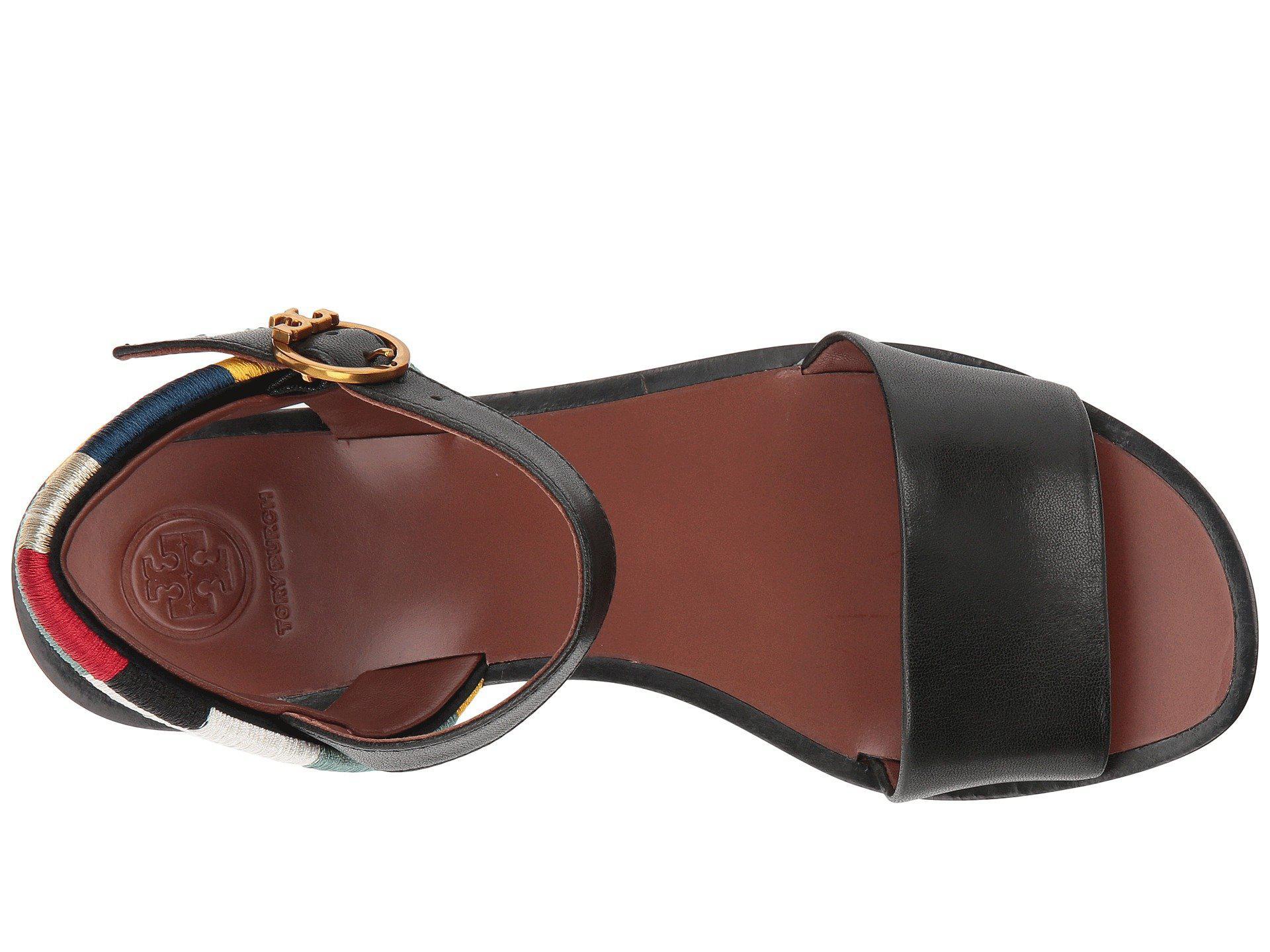 1e7f24965e5c Lyst - Tory Burch Camilla 40mm Platform Sandal in Black