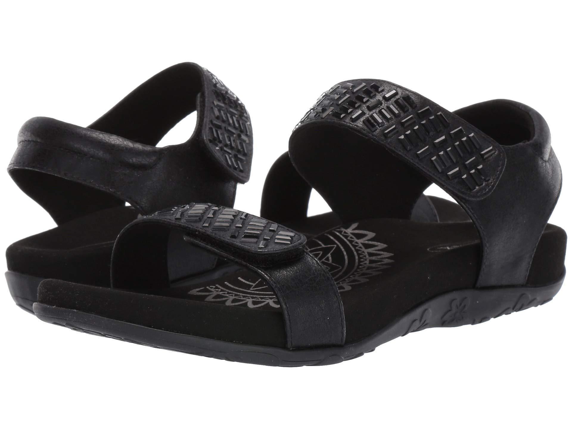 cdb9aed0ade Lyst - Aetrex Marcy (black) Women s Sandals in Black