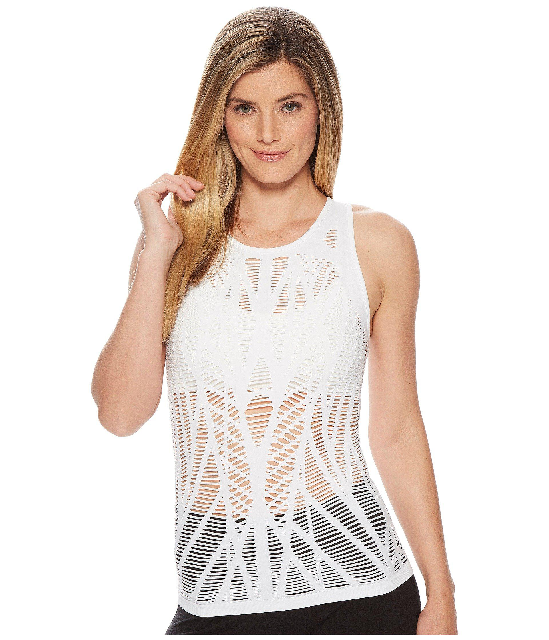 e4fbd12ae67 Lyst - Alo Yoga Vixen Fitted Muscle Tank in White - Save 35%
