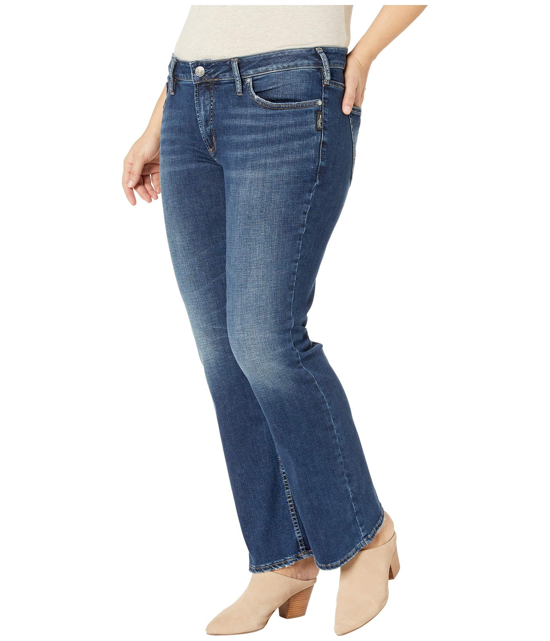 bf1770f3901 Lyst - Silver Jeans Co. Plus Size Suki Mid-rise Curvy Fit Slim Boot Jeans  In Indigo (indigo) Women s Jeans in Blue