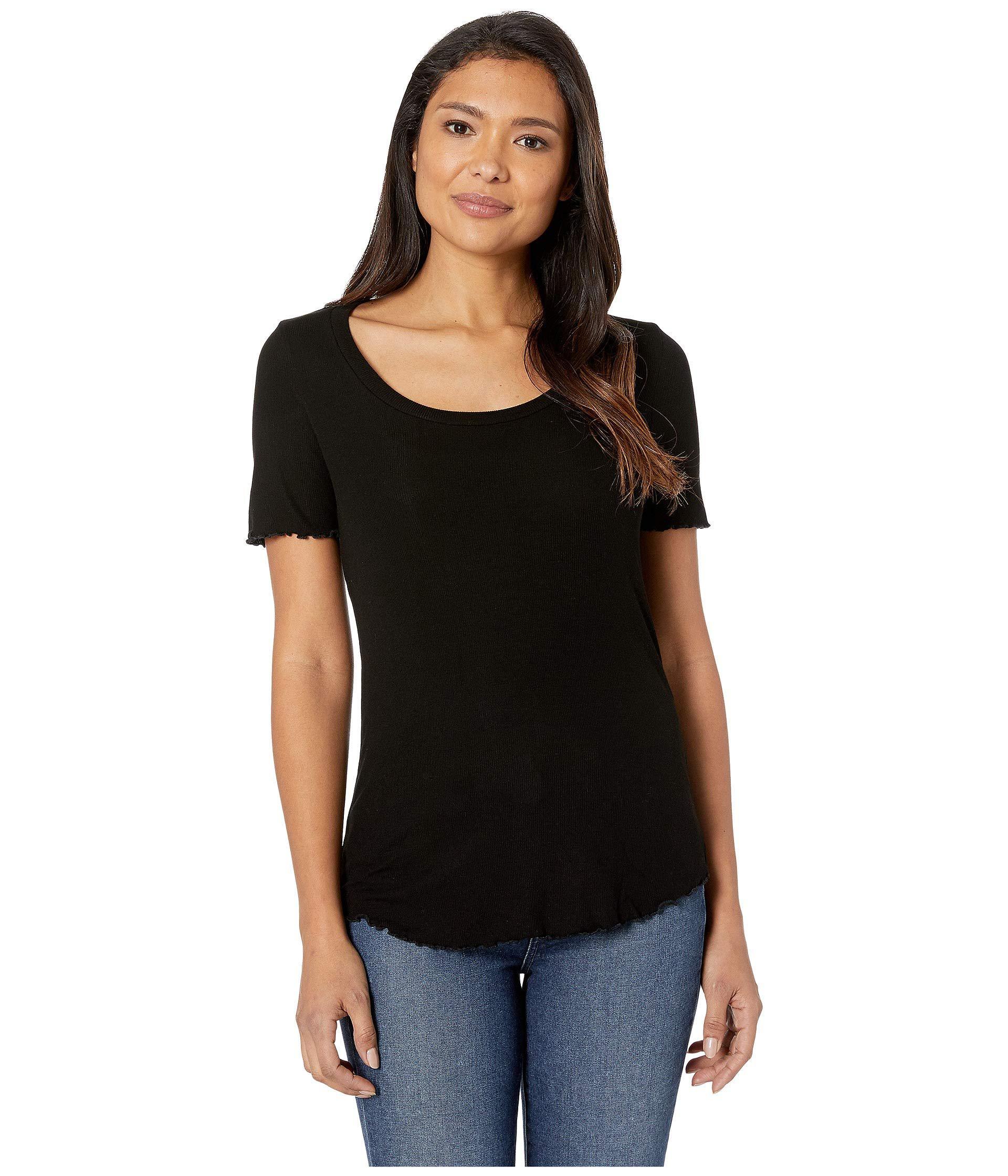 7b741416f557 Lyst - AG Jeans Tanner U-neck Shirt (true Black) Women s Clothing in ...