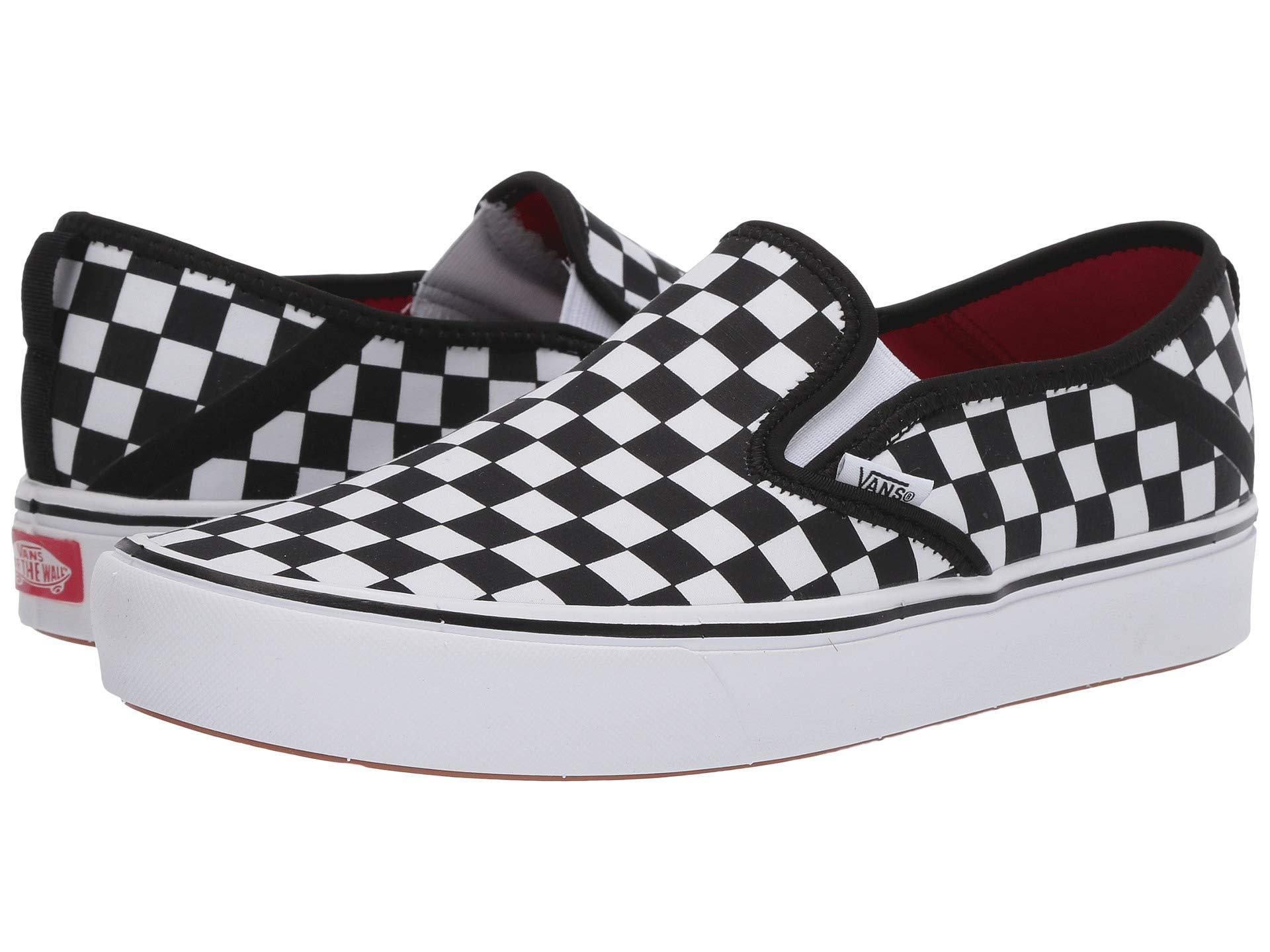 0e940f4c91 Lyst - Vans Comfycush Slip-on Sf (black true White) Skate Shoes in Black