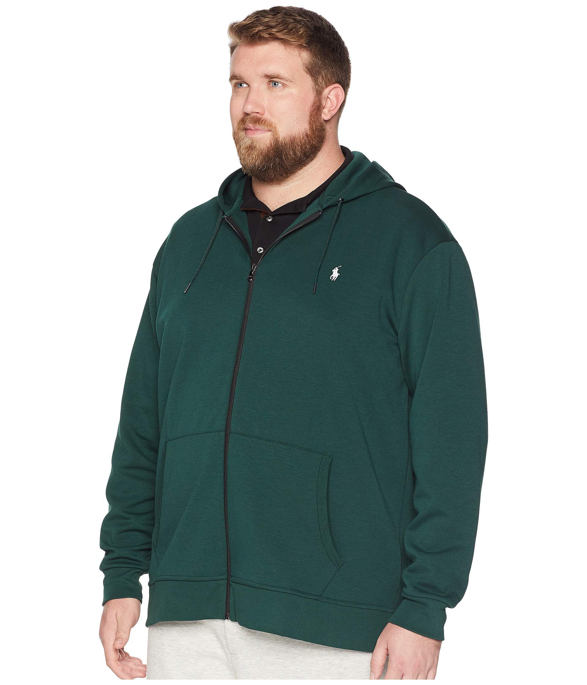Lyst - Polo Ralph Lauren Big Tall Double Knit Full Zip (college Green) Men s  Clothing in Green for Men f6786d7aa