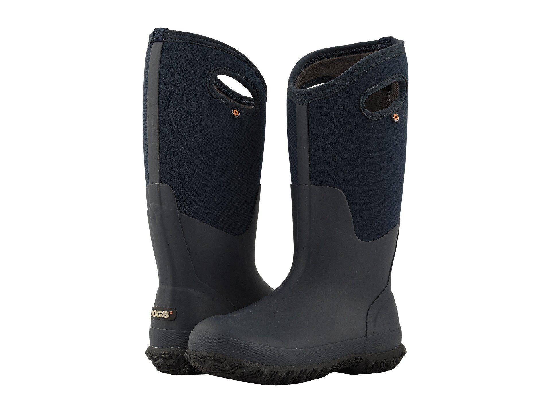 9a30d24522f4 Lyst - Bogs Classic Tall Matte (Eggplant) Women s Rain Boots in Blue ...