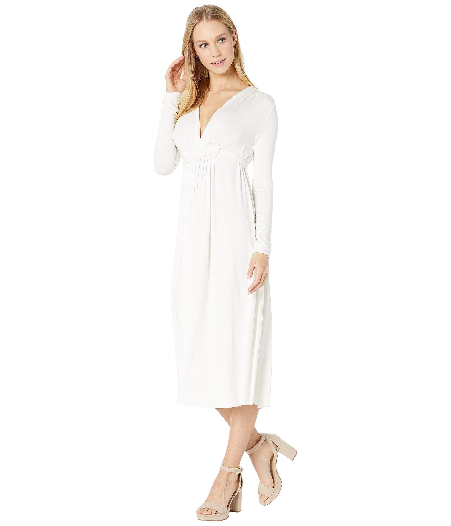 1a9a60f5796 Lyst - Rachel Pally Long Sleeve Midi Caftan (black) Women's Clothing in  White