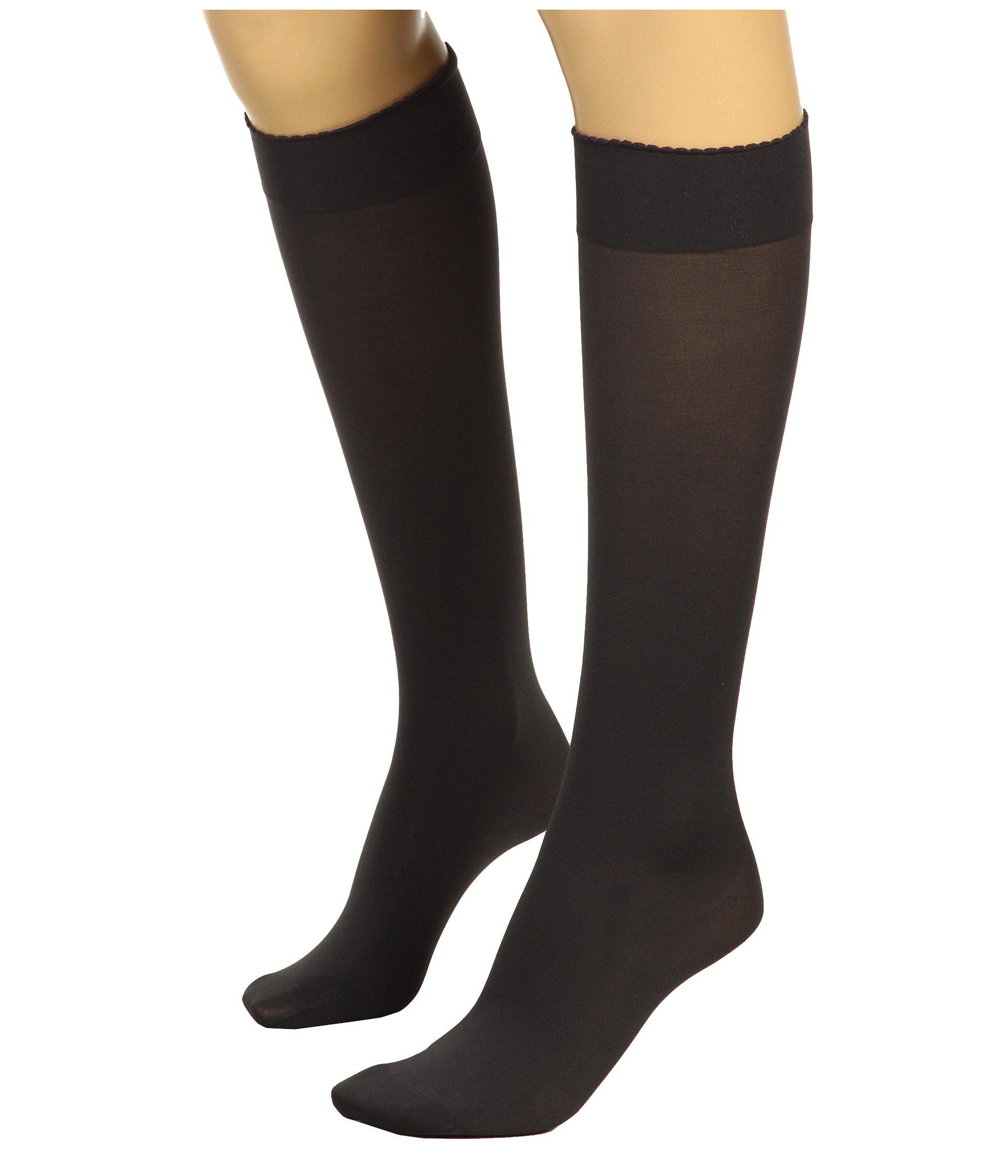 8ccb7226306 Lyst - Wolford Velvet De Luxe 50 Knee-highs (admiral) Women s Knee High  Socks Shoes in Gray