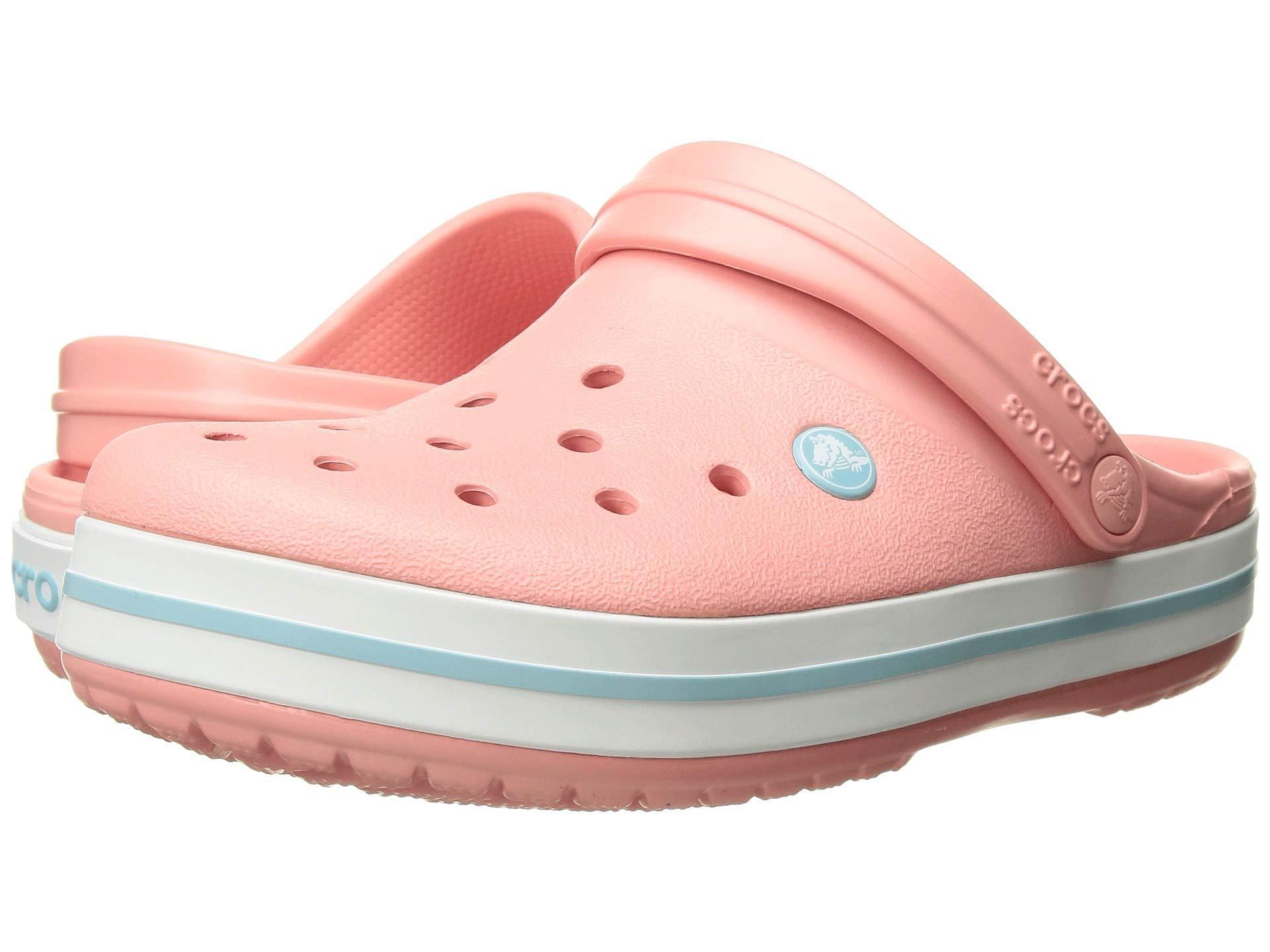 f07b0b0d0 Lyst - Crocs™ Crocband Clog (light Grey bright Coral) Clog Shoes in Pink