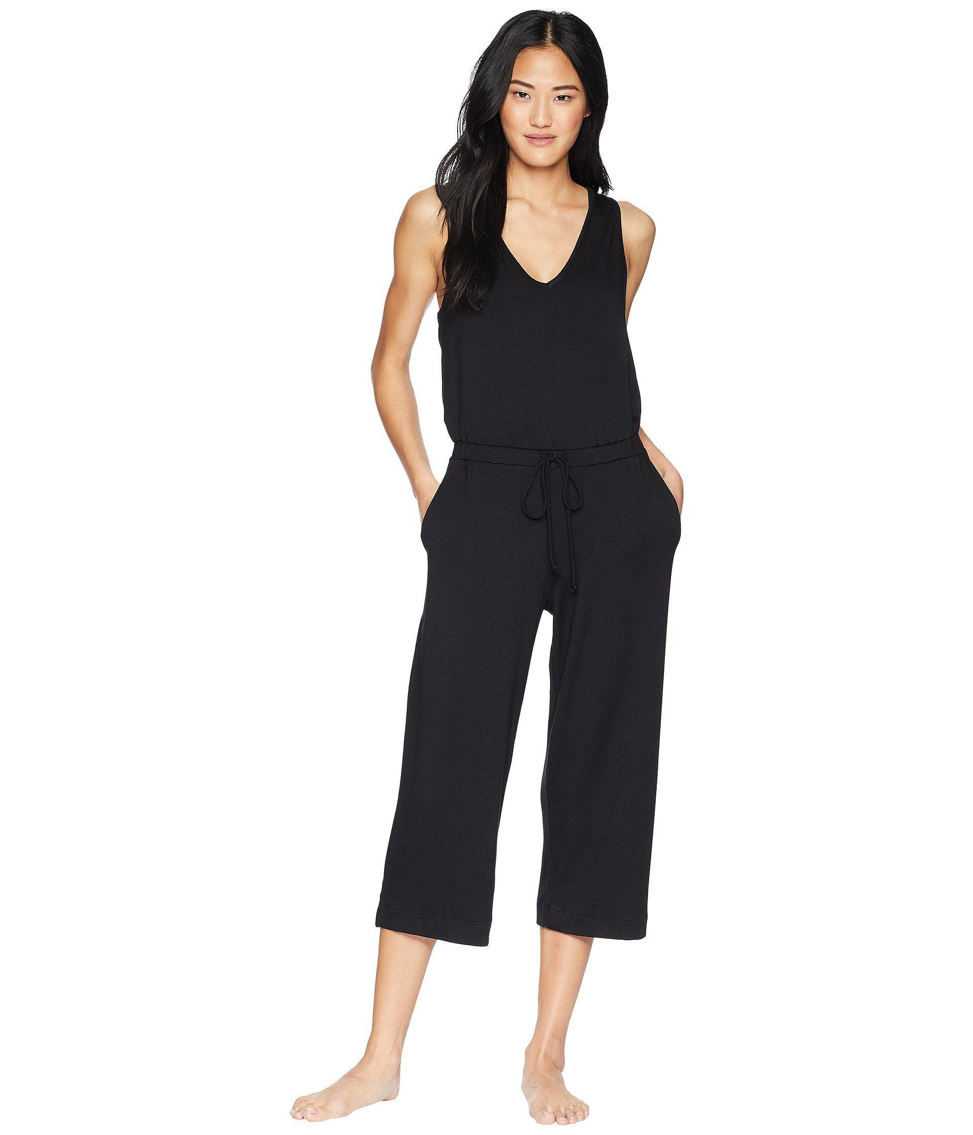 a1a1eb220bfe Lyst - Beyond Yoga Farrah Cropped Jumpsuit (black) Women s Jumpsuit ...