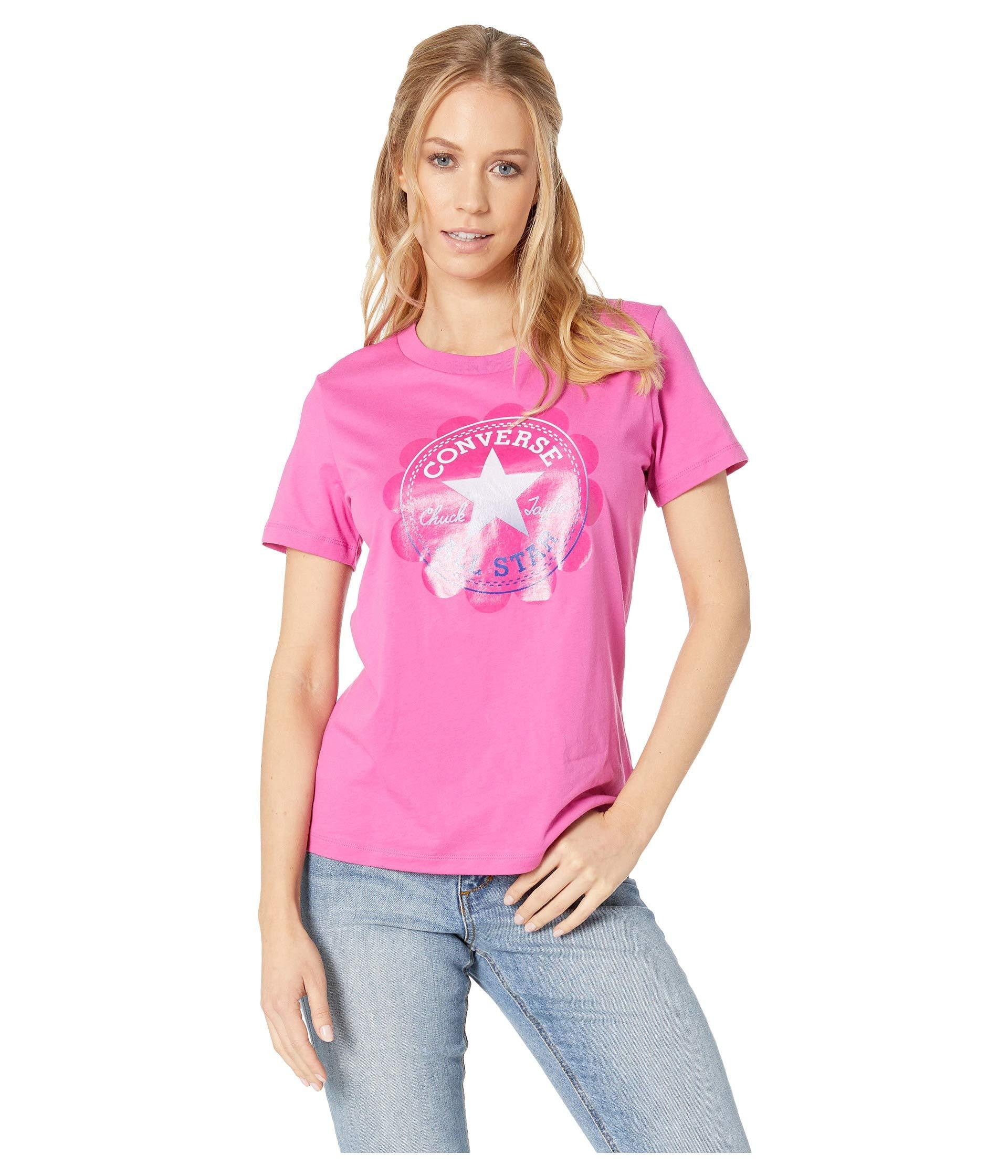 882e1ba84af Converse. Pink Ombre Chuck Patch Short Sleeve Tee (celestial Teal) Women s  T Shirt
