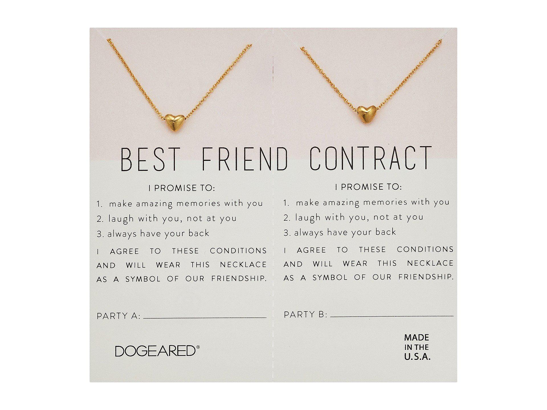 Lyst dogeared best friend contract set of 2 heart bead necklaces view fullscreen altavistaventures Image collections