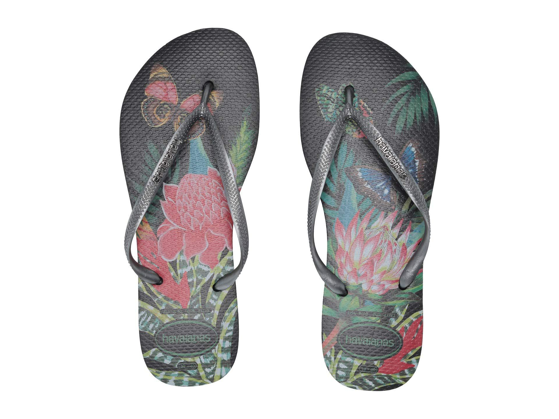 fe59d929d8ff21 Havaianas - Slim Tropical Flip Flops (black graphite) Women s Sandals -  Lyst. View fullscreen