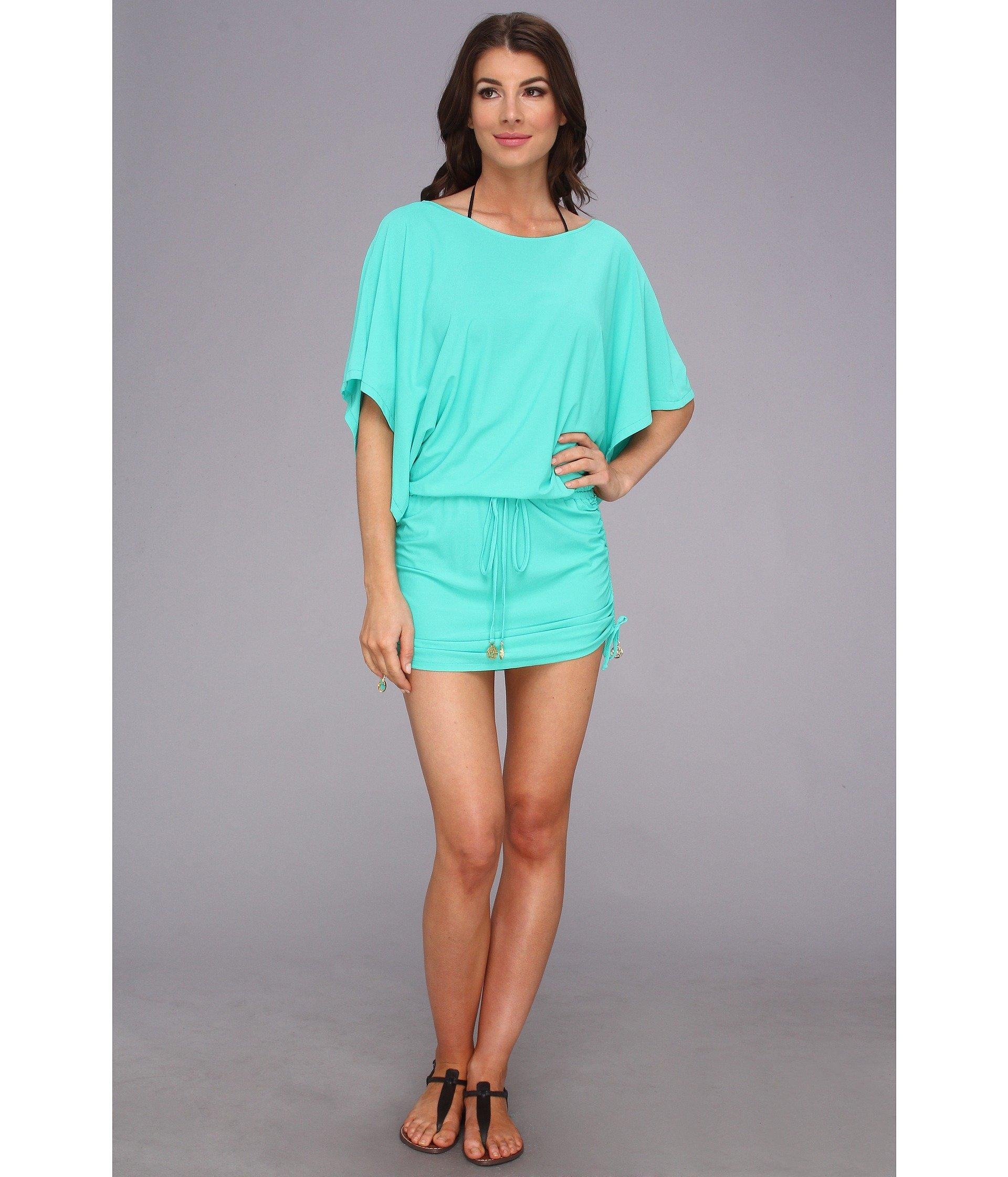 e148374266d Lyst - Luli Fama Cosita Buena South Beach Dress Cover-up (gold ...