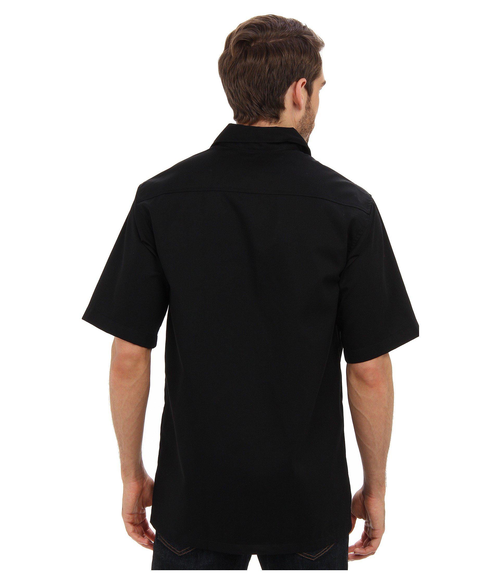 53a9137073f Lyst - Carhartt Twill S s Work Shirt (navy) Men s Short Sleeve ...