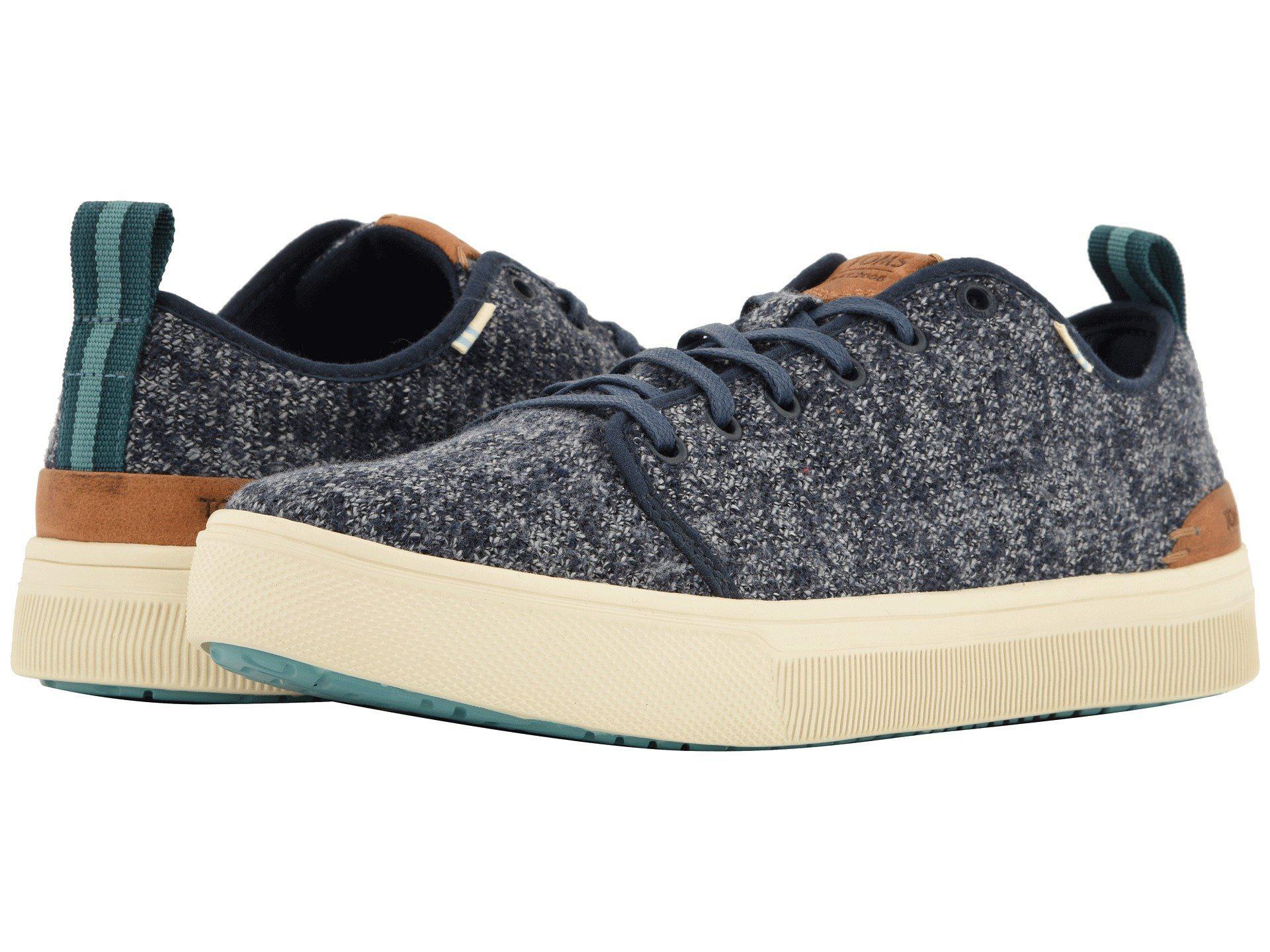 969ec0ac9e6 TOMS. Blue Trvl Lite Low (navy Melange Knit) Men s Lace Up Casual Shoes