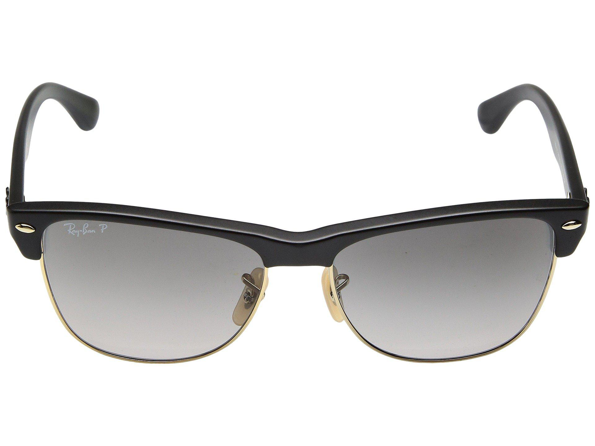 1e16f2be314 Lyst - Ray-Ban Rb4175 Oversized Clubmaster 57mm (blackpolari ...
