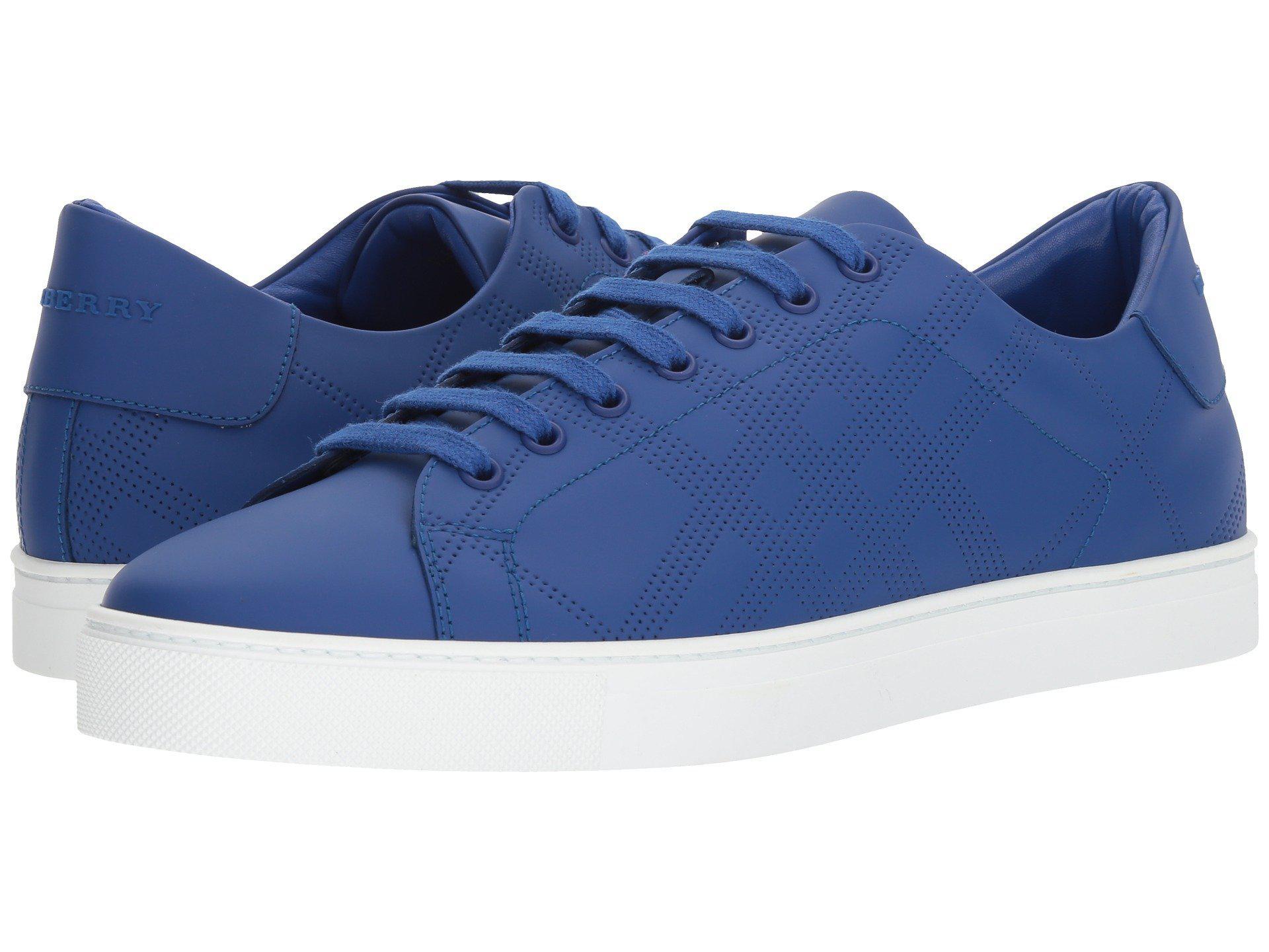42c9b96c6bd0 Lyst - Burberry Albert Perforated Sneaker in Blue for Men