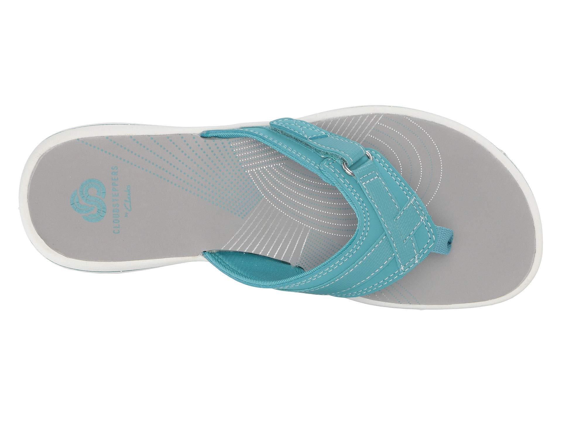 5a669e9264f7f6 Clarks - Blue Breeze Sea (aqua Synthetic) Women s Sandals - Lyst. View  fullscreen