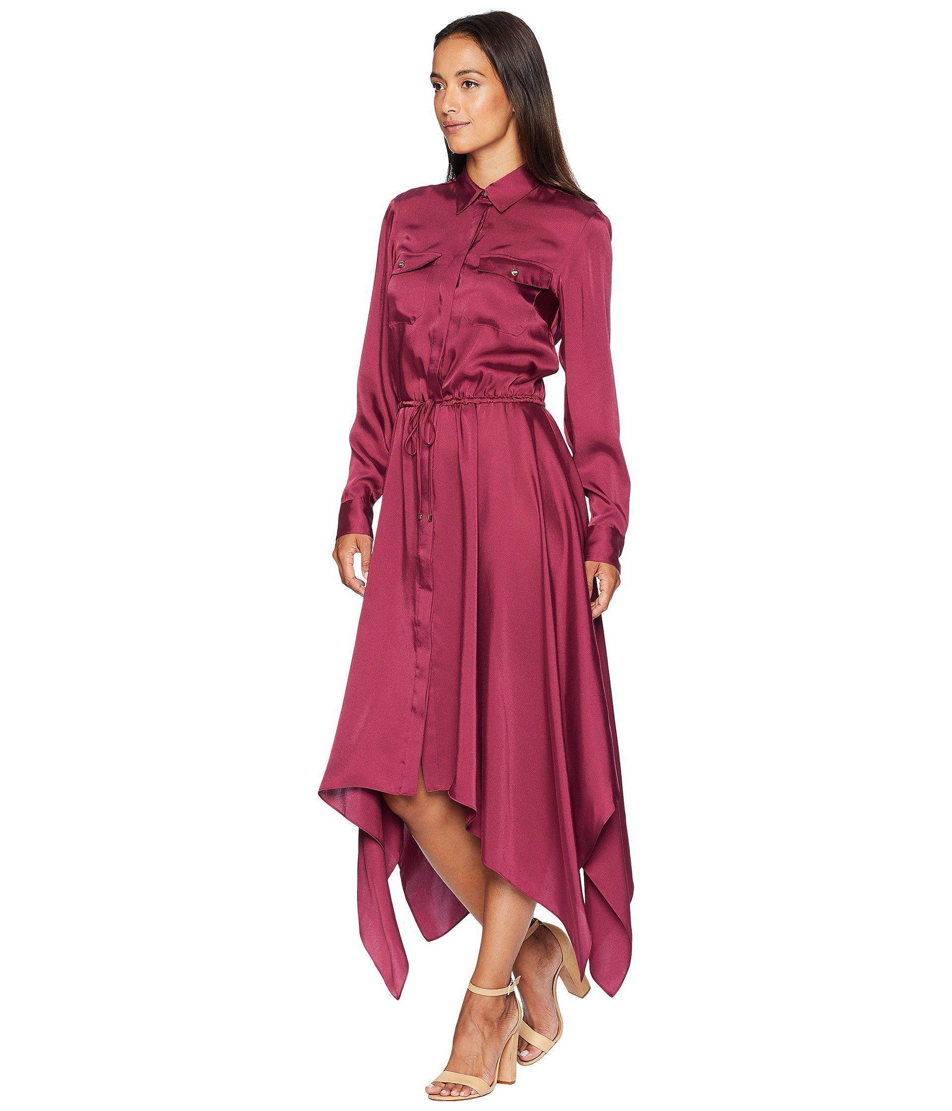44544d121ed09 Lyst - Lauren by Ralph Lauren Twill Shirtdress (rich Cranberry) Women s  Dress in Red