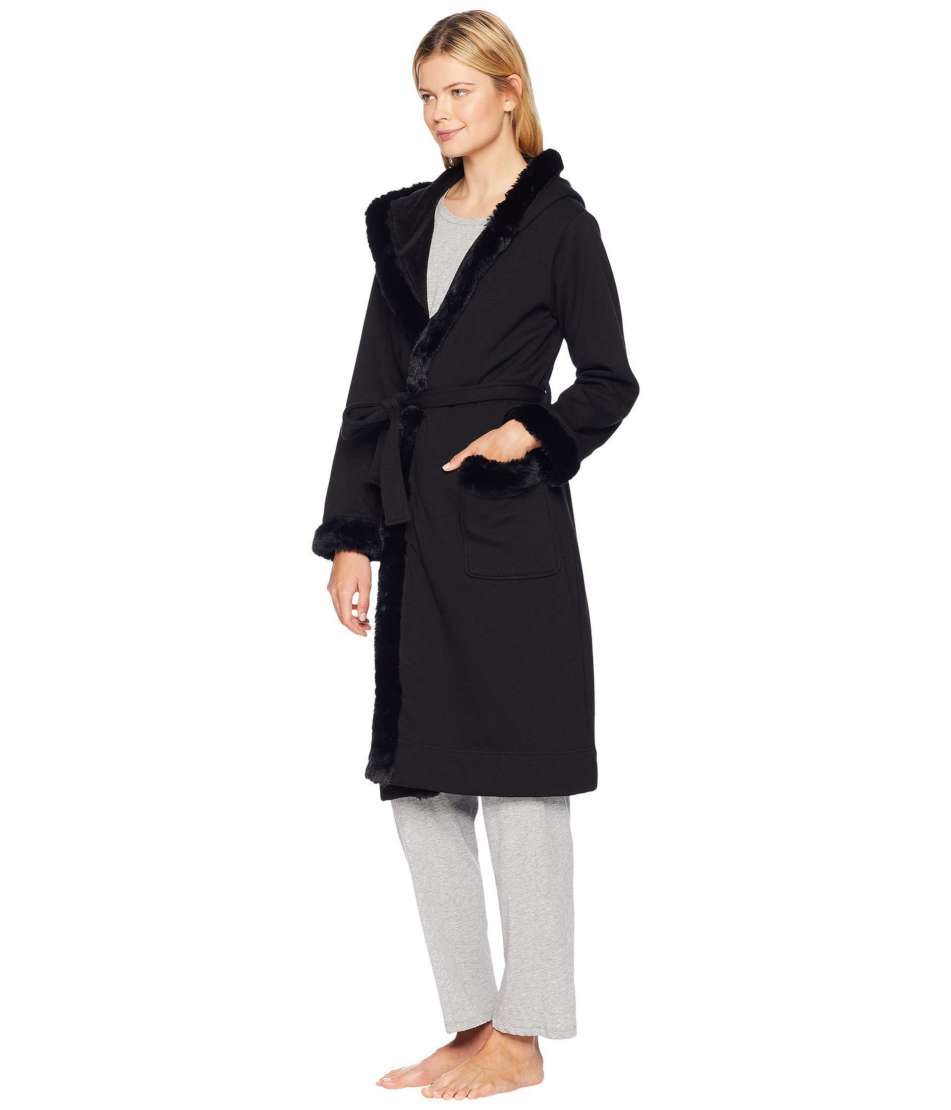 Lyst - UGG Duffield Deluxe Ii Robe (black) Women s Robe in Black f636f446f