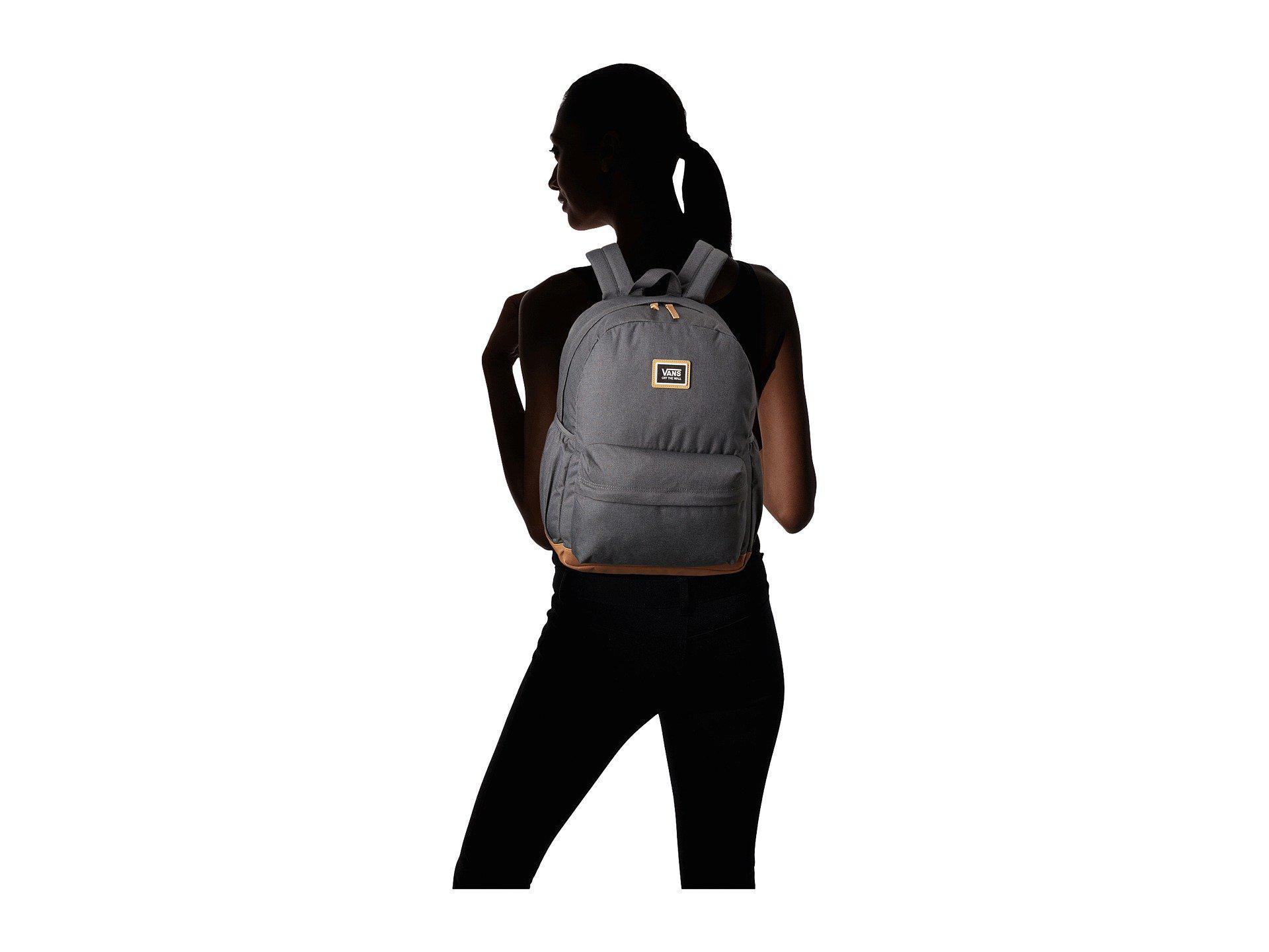 149f3426ad Lyst - Vans Realm Plus Backpack (asphalt) Backpack Bags in Black