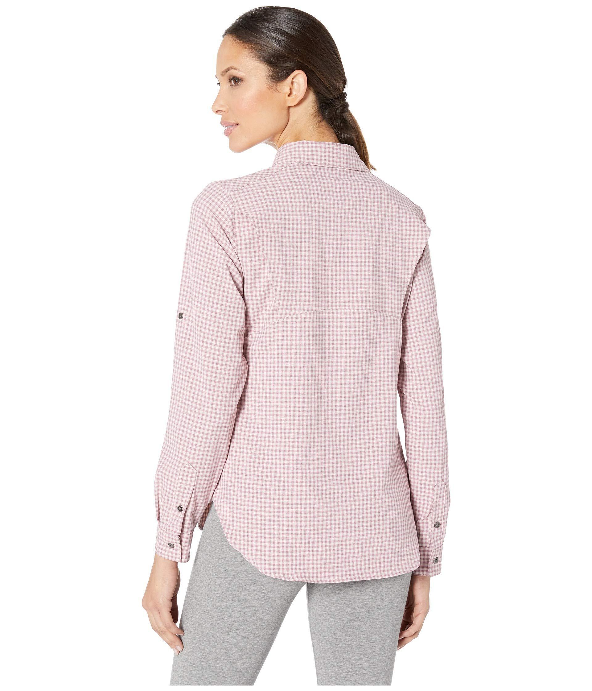 d2b7bc38 ... Bryce Canyon Stretch Long Sleeve Shirt (antique Mauve Gingham) Women's  Long. View fullscreen