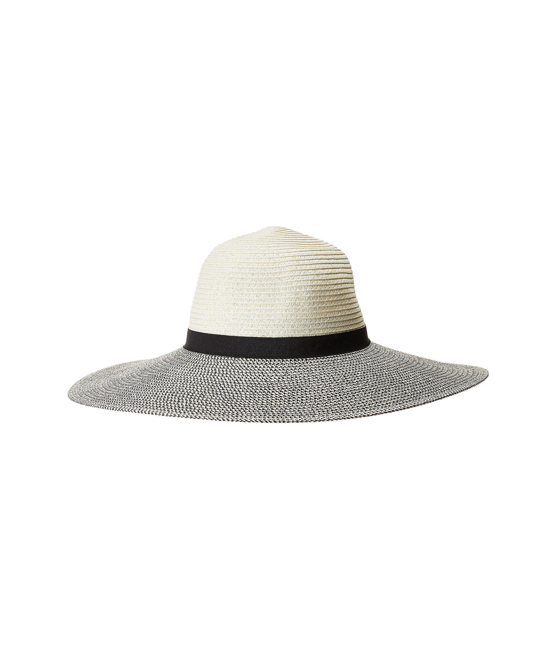 0a7d50ca Lyst - Calvin Klein Metallic Woven-brim Floppy Hat in Gray