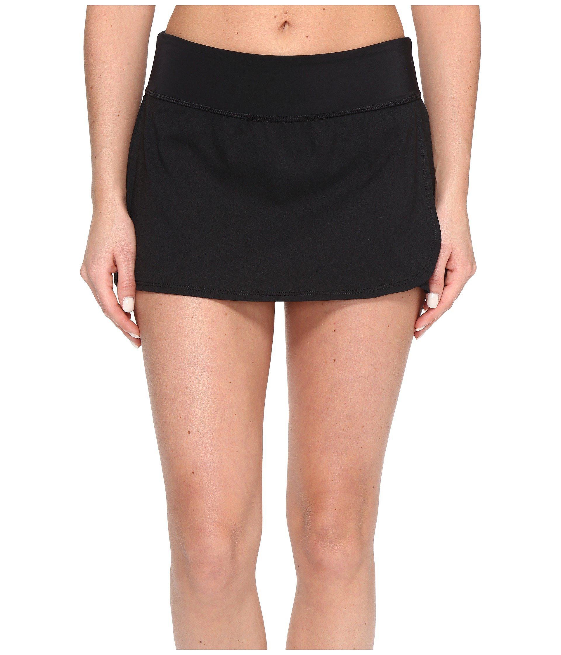 08552315583 Lyst - Nike Core Solid Seperates Swim Boardskirt in Black