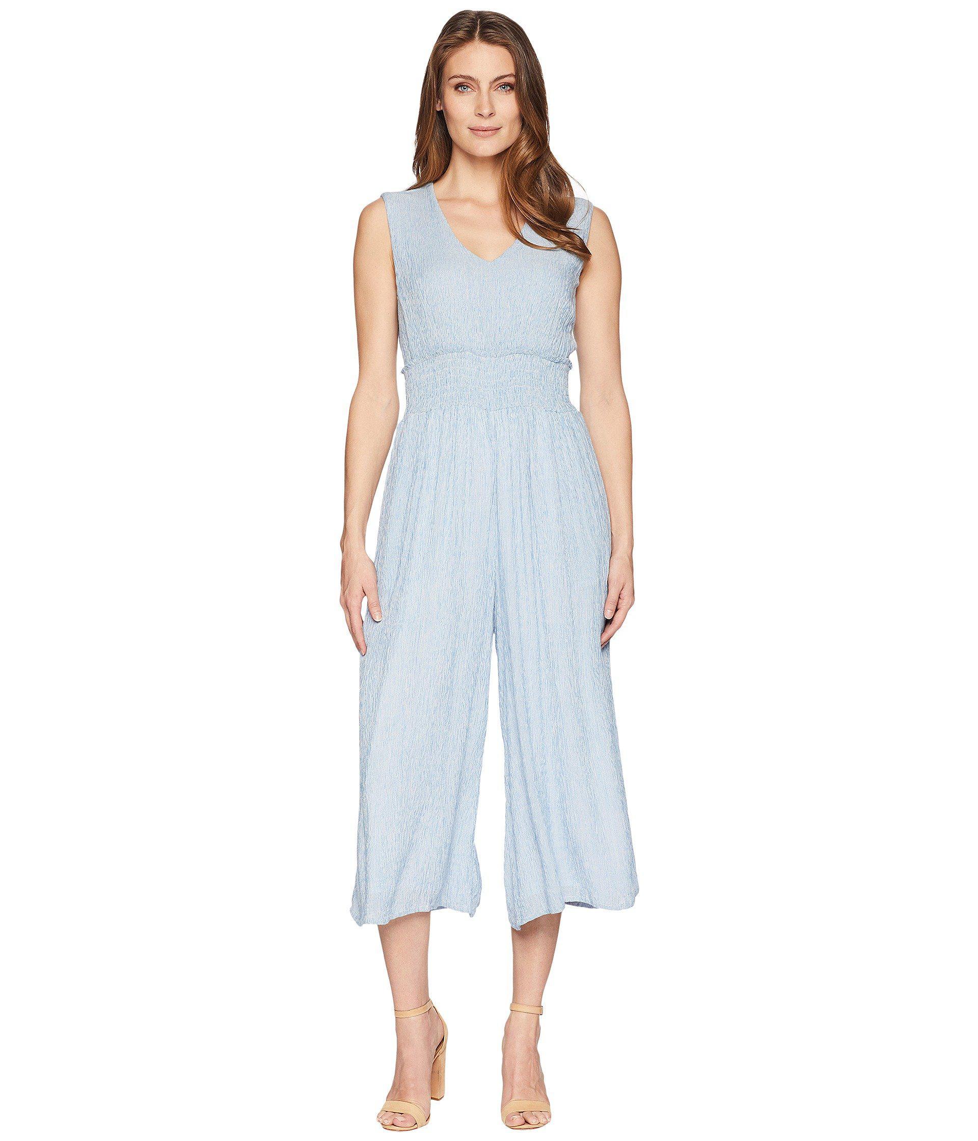 0b3b6ab32fa Lyst - Catherine Malandrino Braden Jumpsuit (blue white Stripe ...