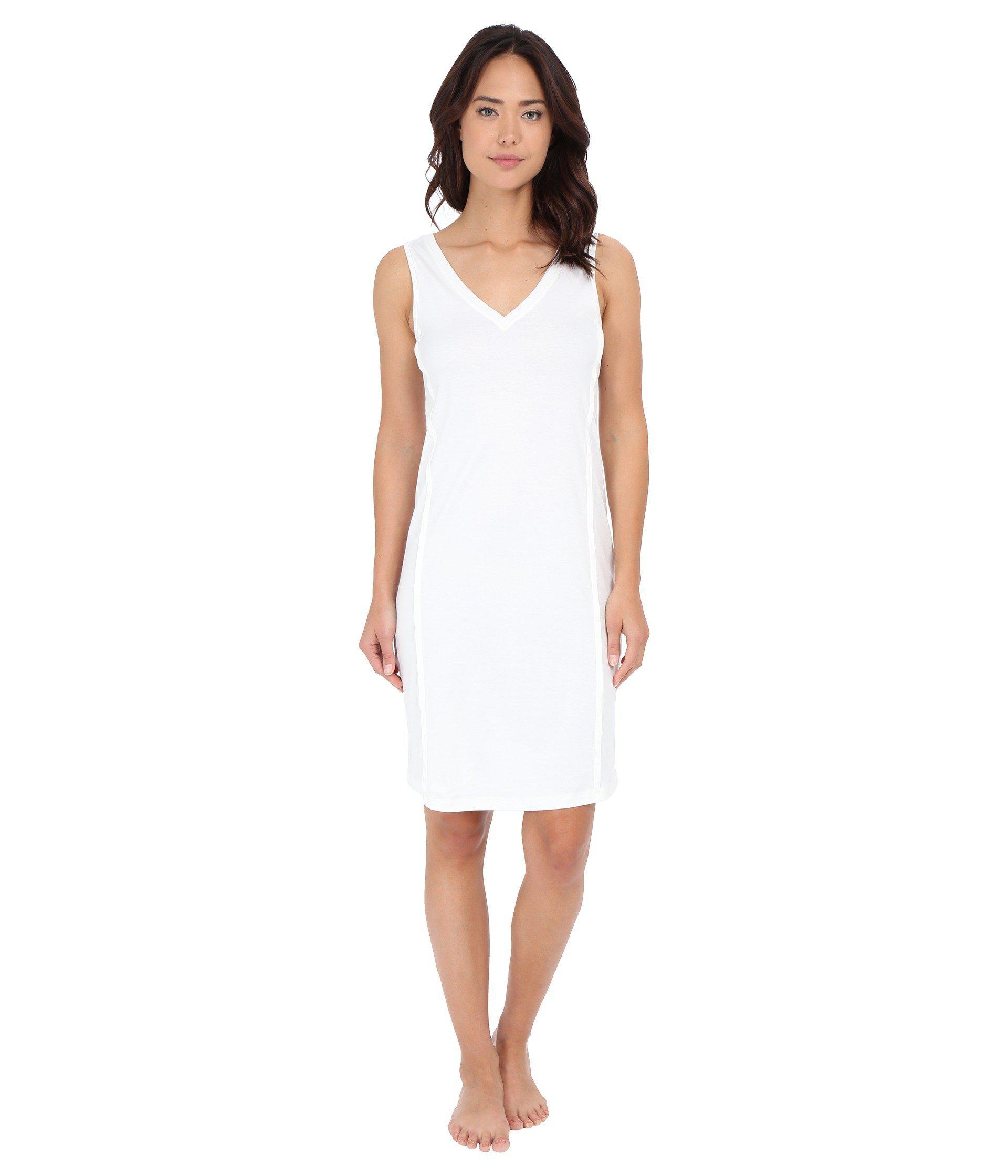 5ffa4bf539 Lyst - Hanro Pure Essence Tank Gown (off-white) Women's Pajama in White