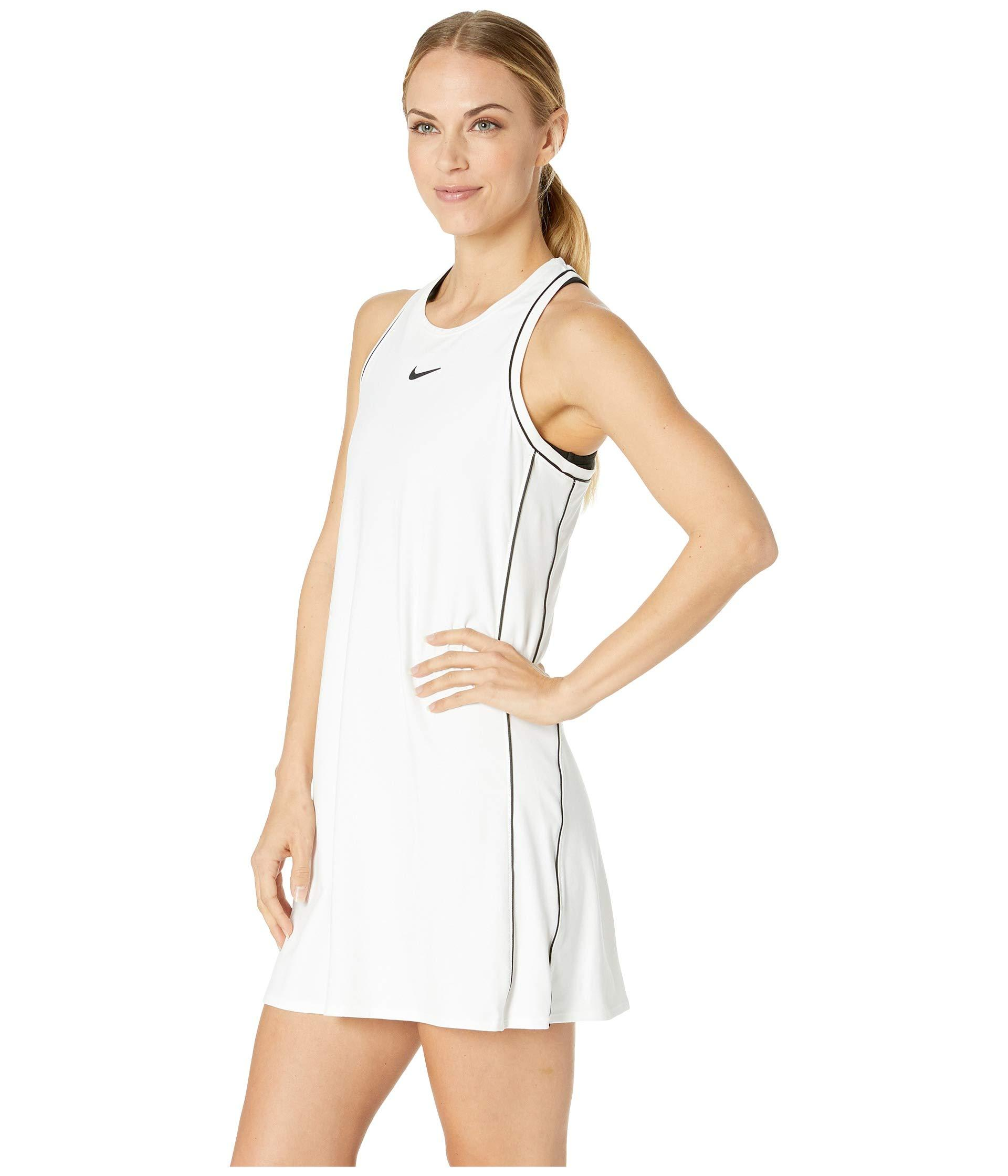 b39bcc2ff10f0 Lyst - Nike Court Dry Dress (indigo Force/white/white/indigo Force) Women's  Dress in White