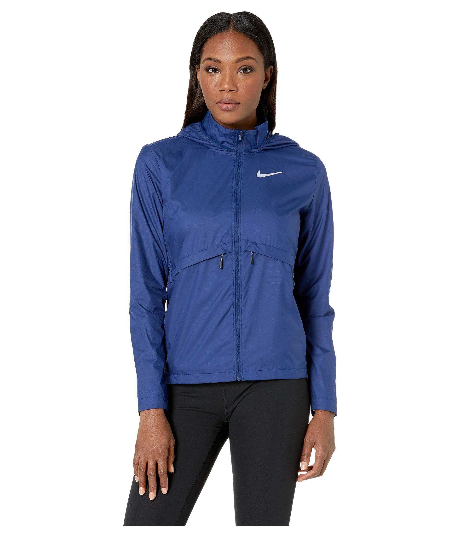ba21ed20de89 Lyst - Nike Essential Jacket Hood (black) Women s Coat in Blue