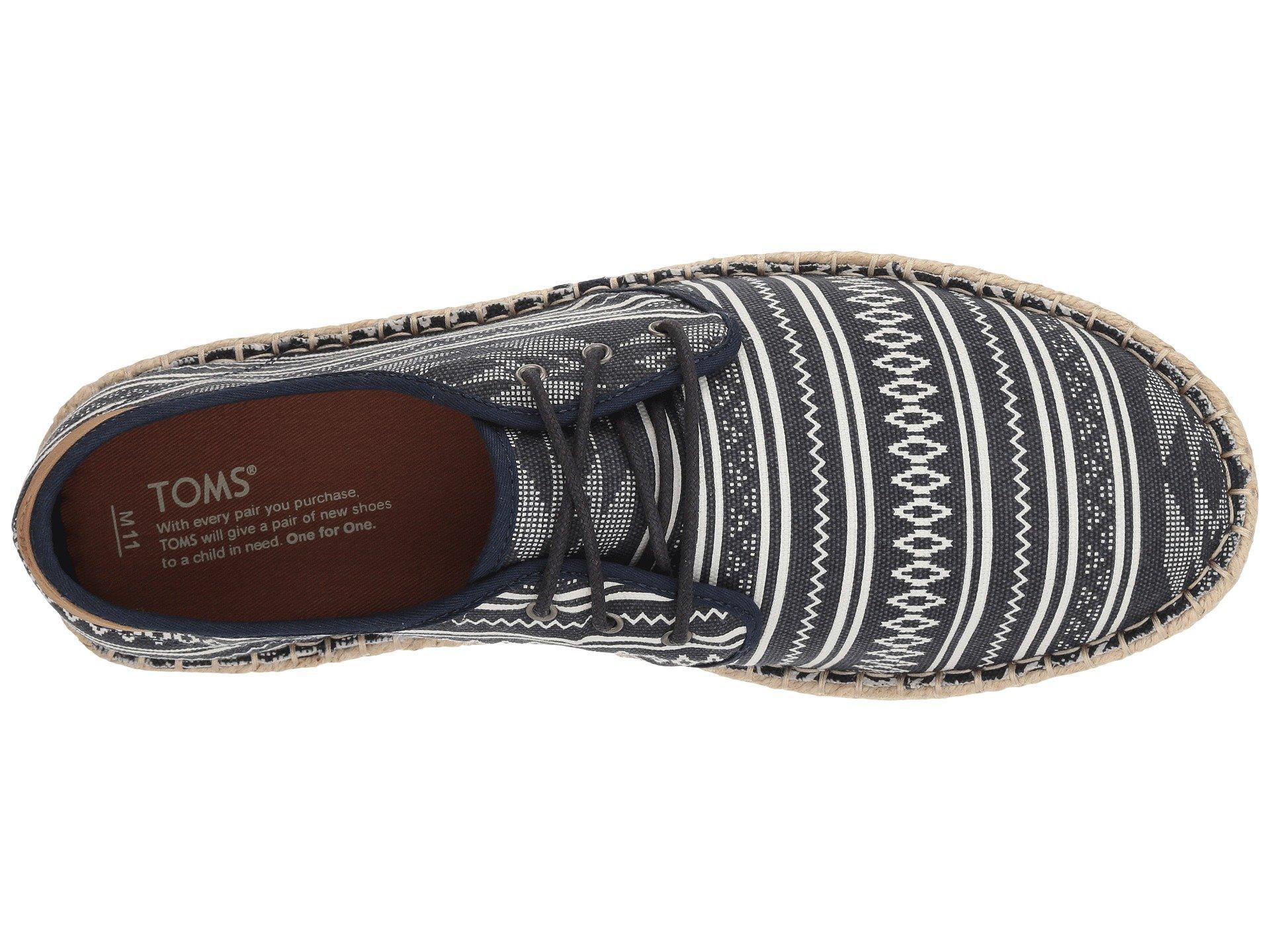 7f07cdd7459 Lyst - TOMS Navy Geo Men s Diego Sneakers in Blue for Men