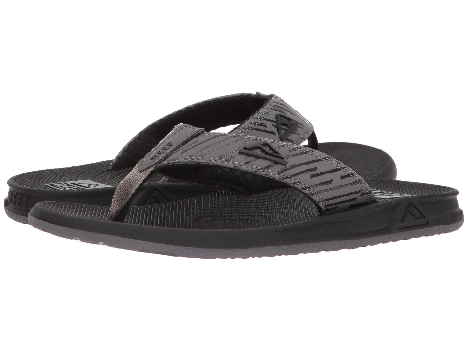 3cd2386b2cf4 Lyst - Reef Phantom Prints (grey Lines) Men s Sandals in Black for Men