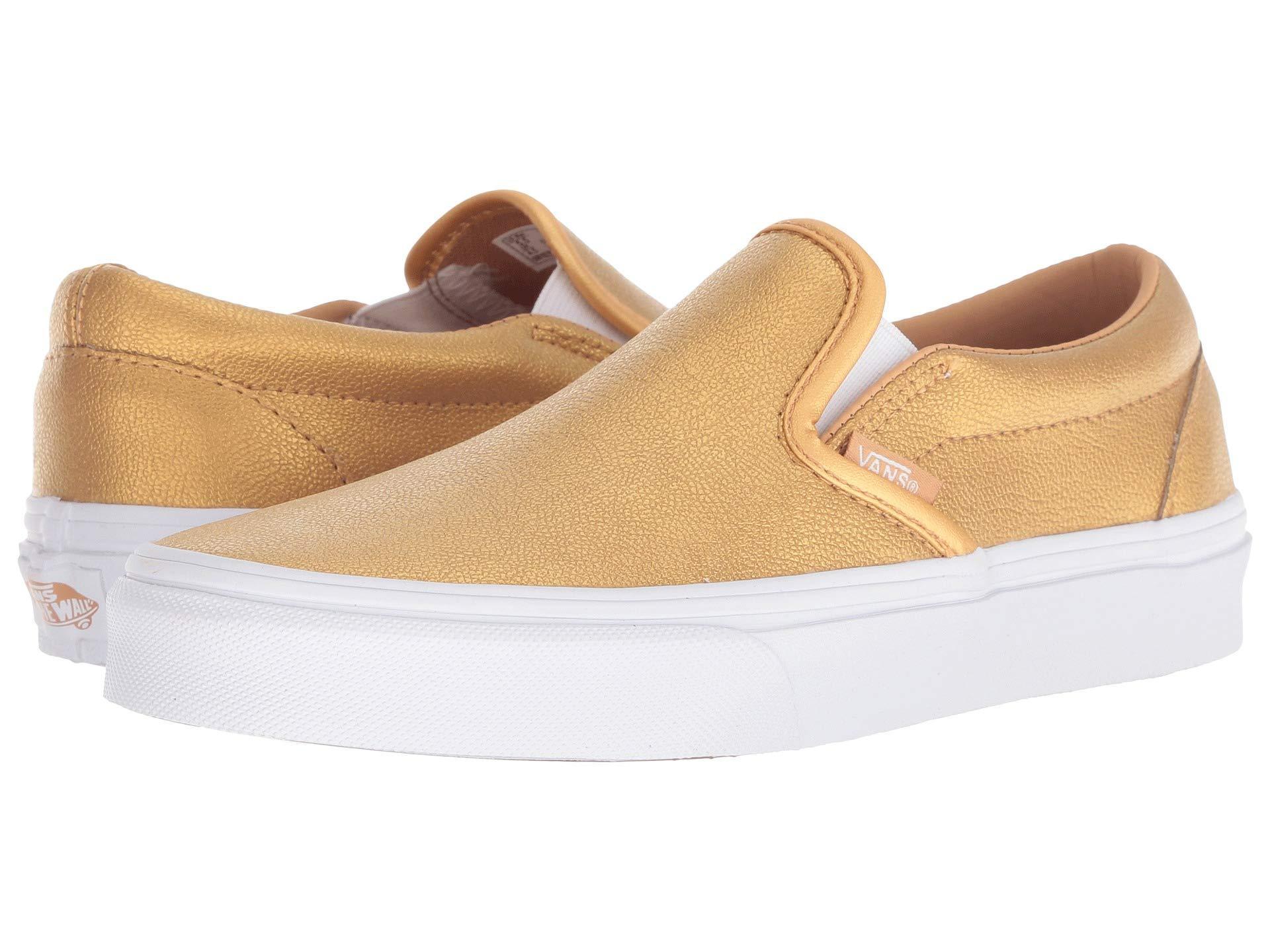 7444a45cb5 Lyst - Vans Classic Slip-ontm ((gingham) Blazing Yellow true White ...
