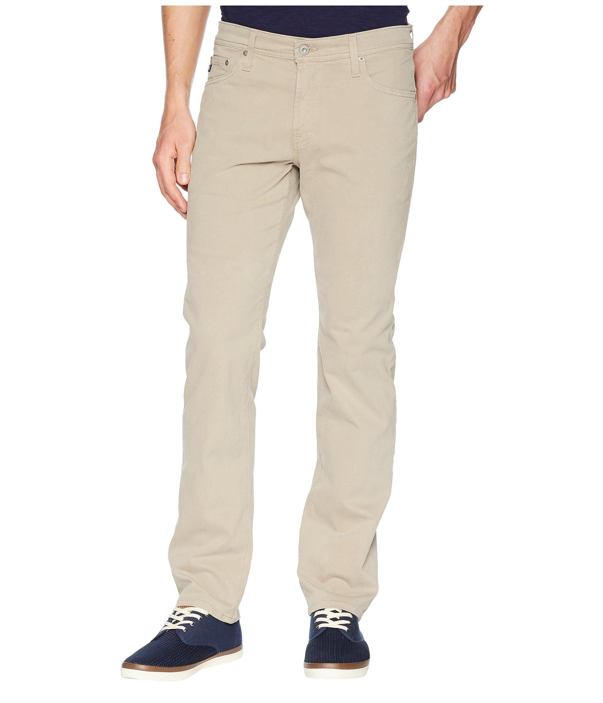 cd6fd1e9 Lyst - AG Jeans The Graduate Tailored Straight Sud Sueded Stretch ...